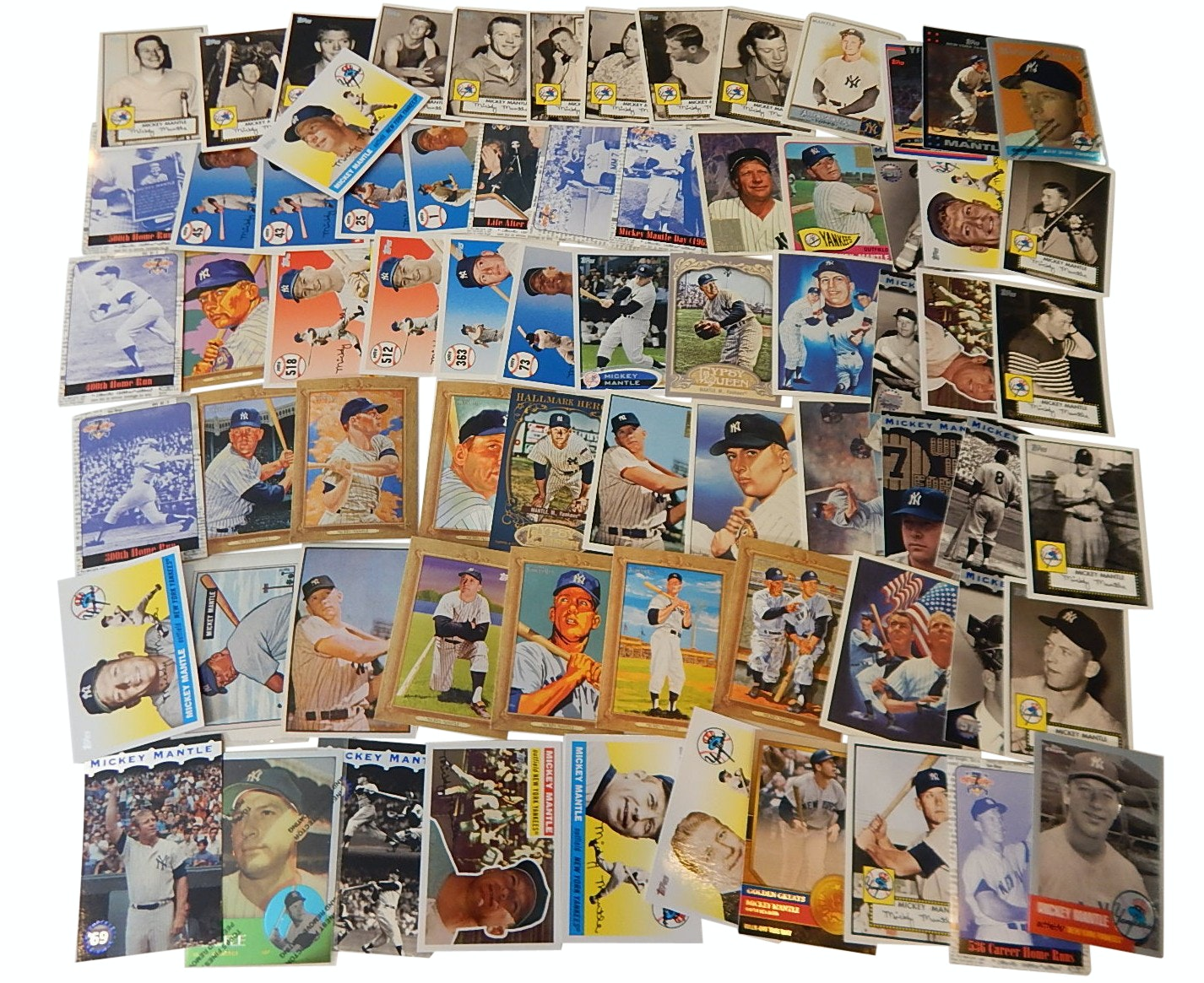HOF Mickey Mantle Insert and Archive Baseball Card Collection from 1990s/2000s