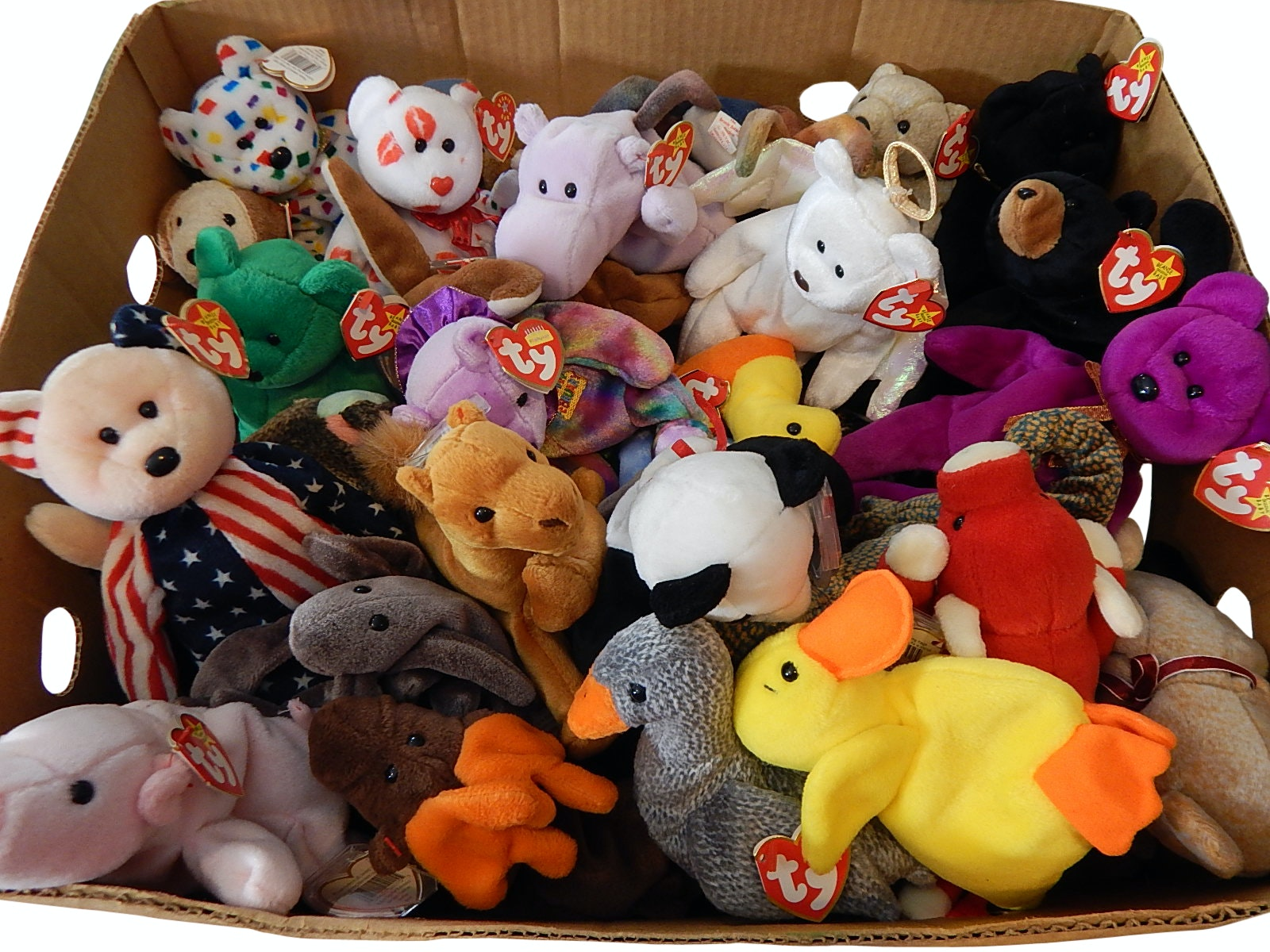 Vintage Ty Beanie Babies Collection with Tags
