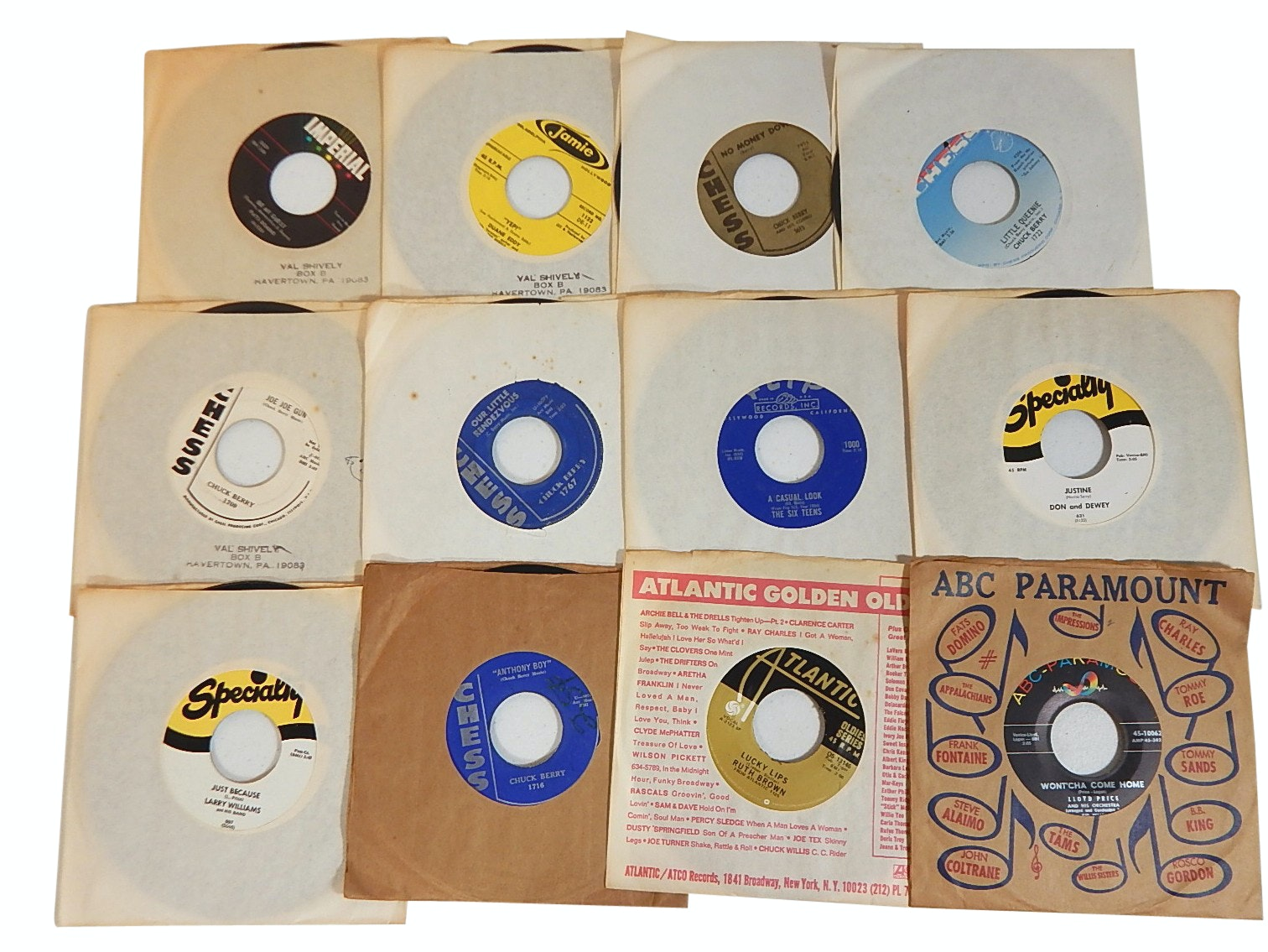 1960s and 1970s 45 RPM Records with Country, Rock, Pop, and R&B - Chuck Berry