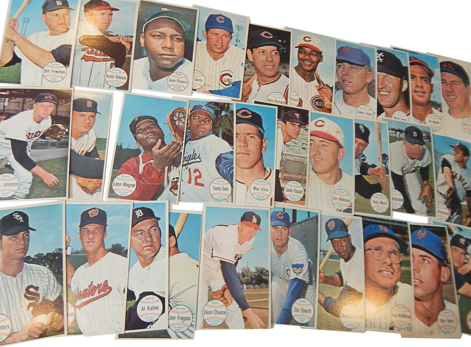 "1964 Topps ""Giants"" Baseball Cards with Kaline, Santo, Aparicio"