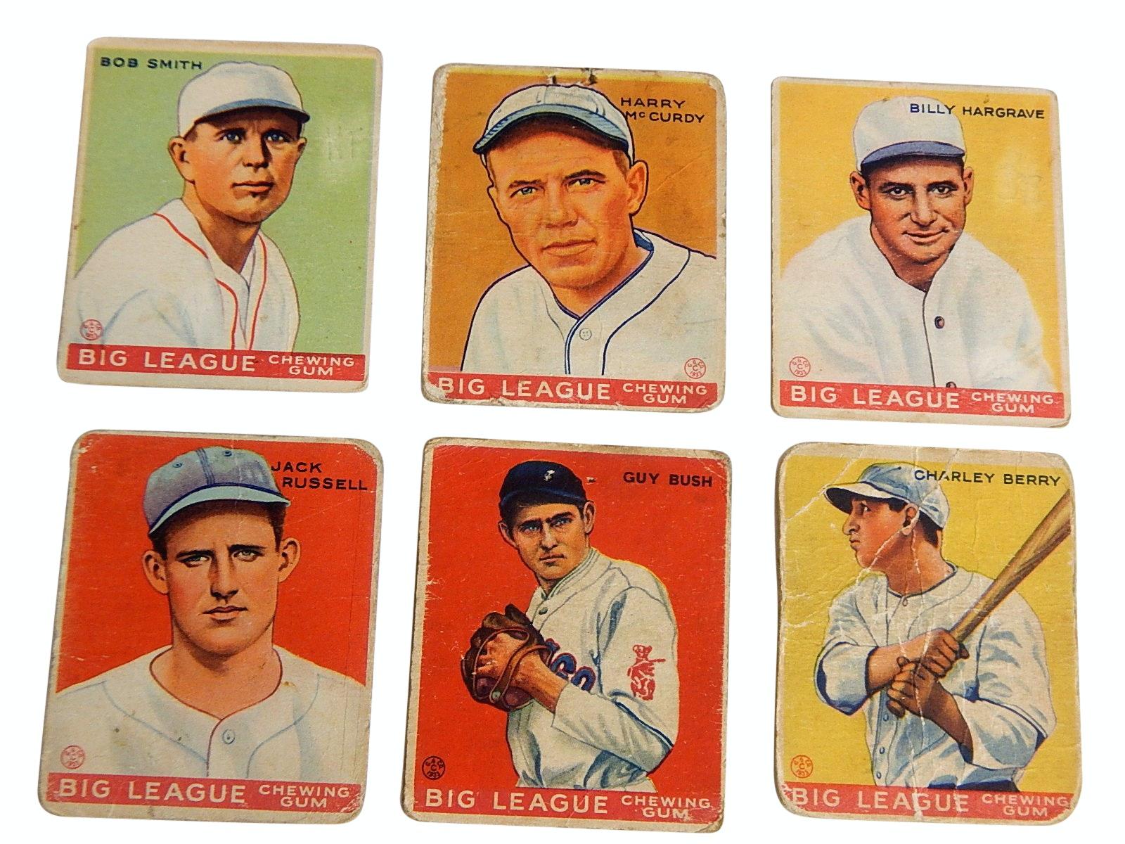 "1933 Goudey Big League Chewing Gum ""Play Ball"" Baseball Cards"