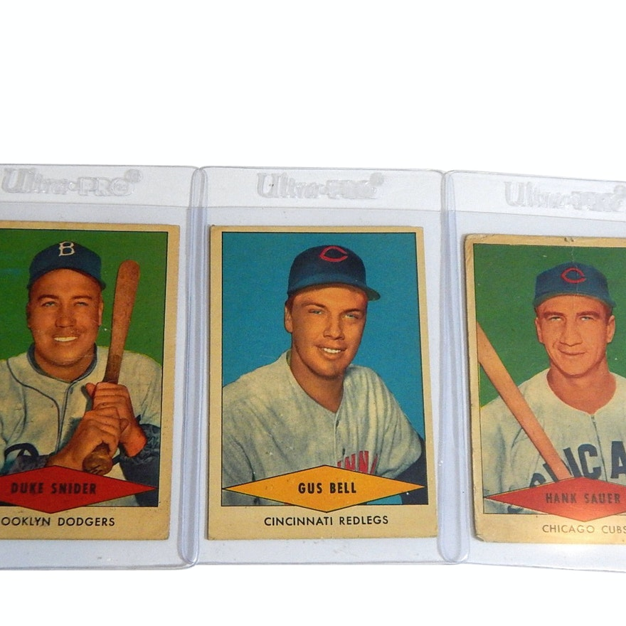 1954 John Morrell Red Heart Baseball Cards With Hof Duke Snider Bell Sauer