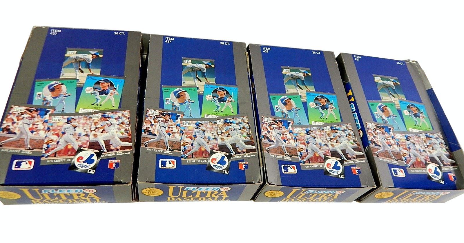 Four Boxes of 1991 Fleer Ultra Unopened Baseball Wax Packs