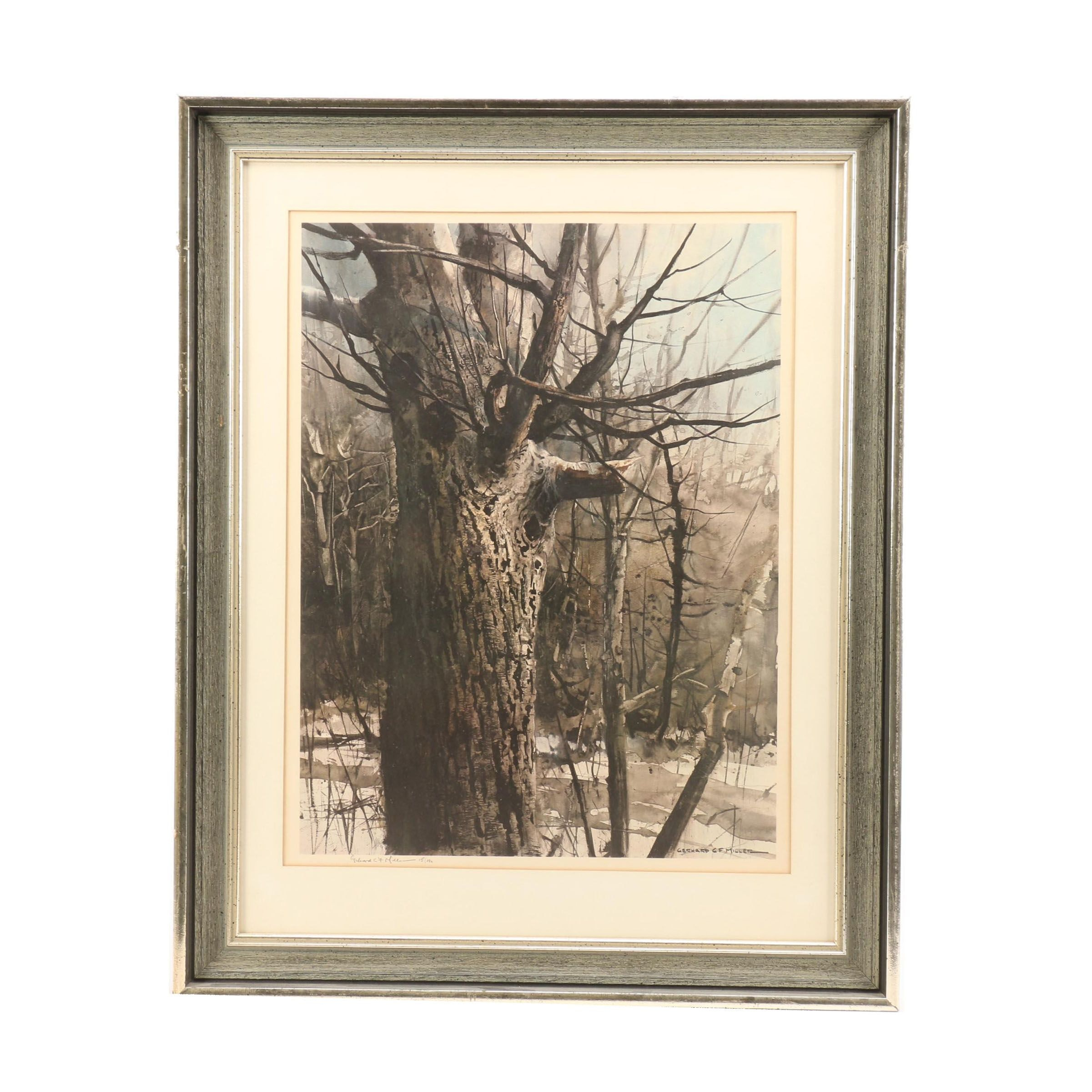 """Gerhard CF Miller Limited Edition Offset Lithograph """"The Veteran"""""""