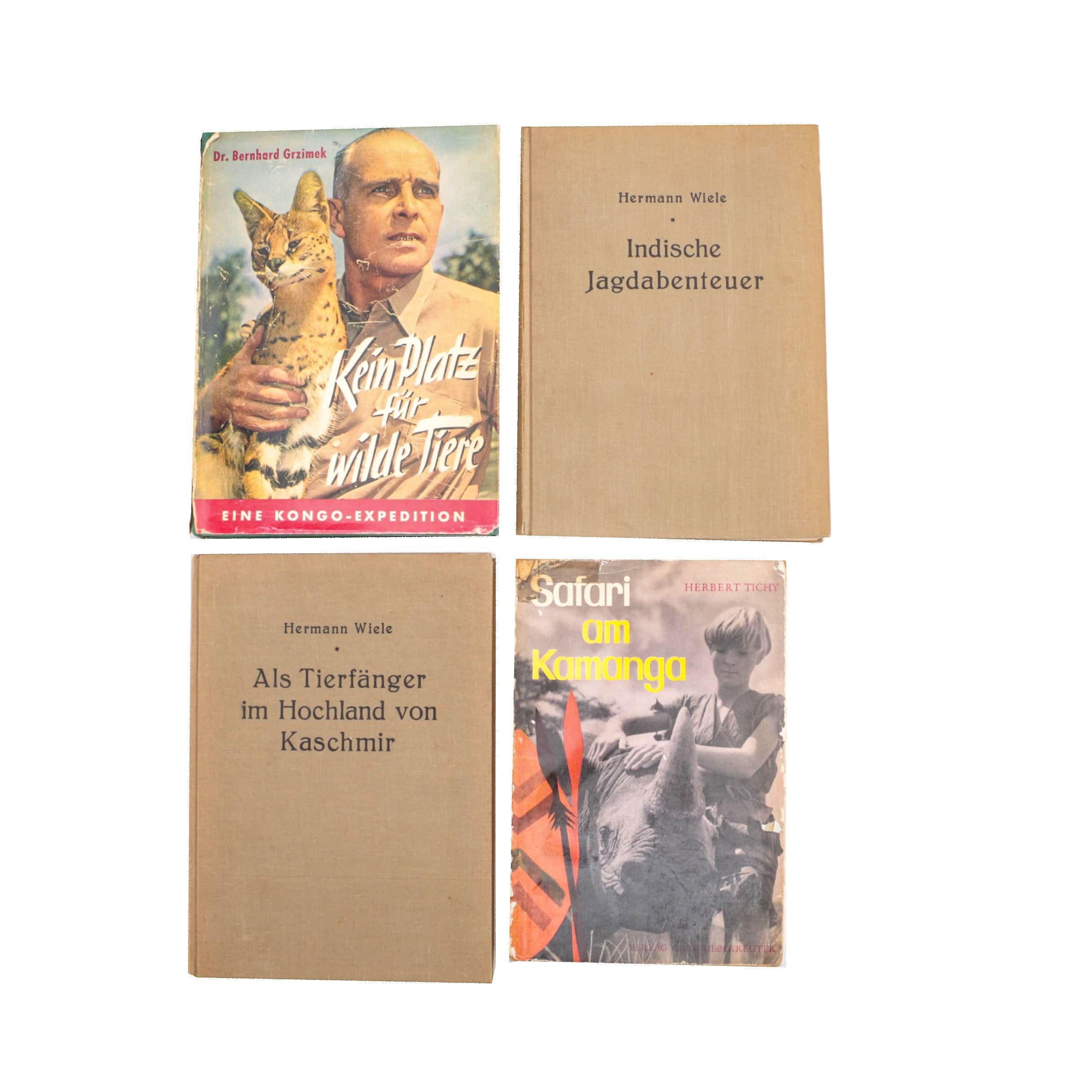 Vintage German Language Nature and Travel Books