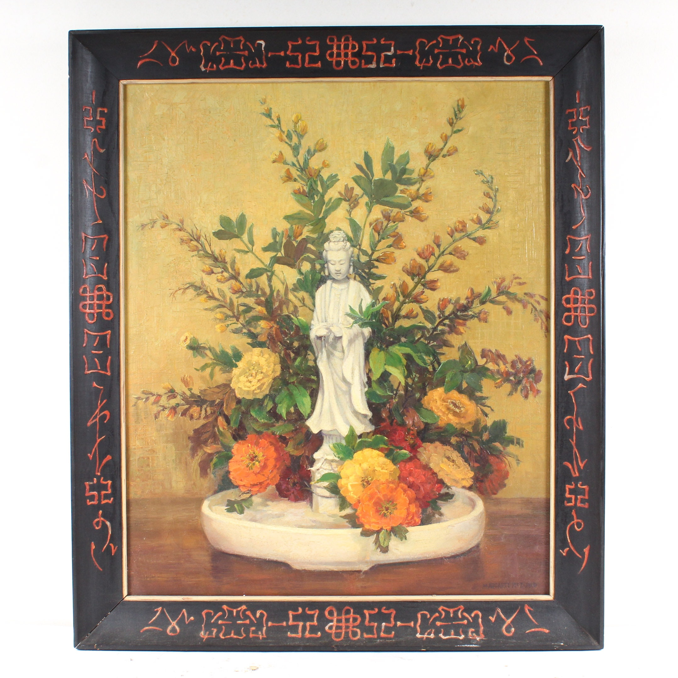 Chinese Inspired Guanyin Oil Painting