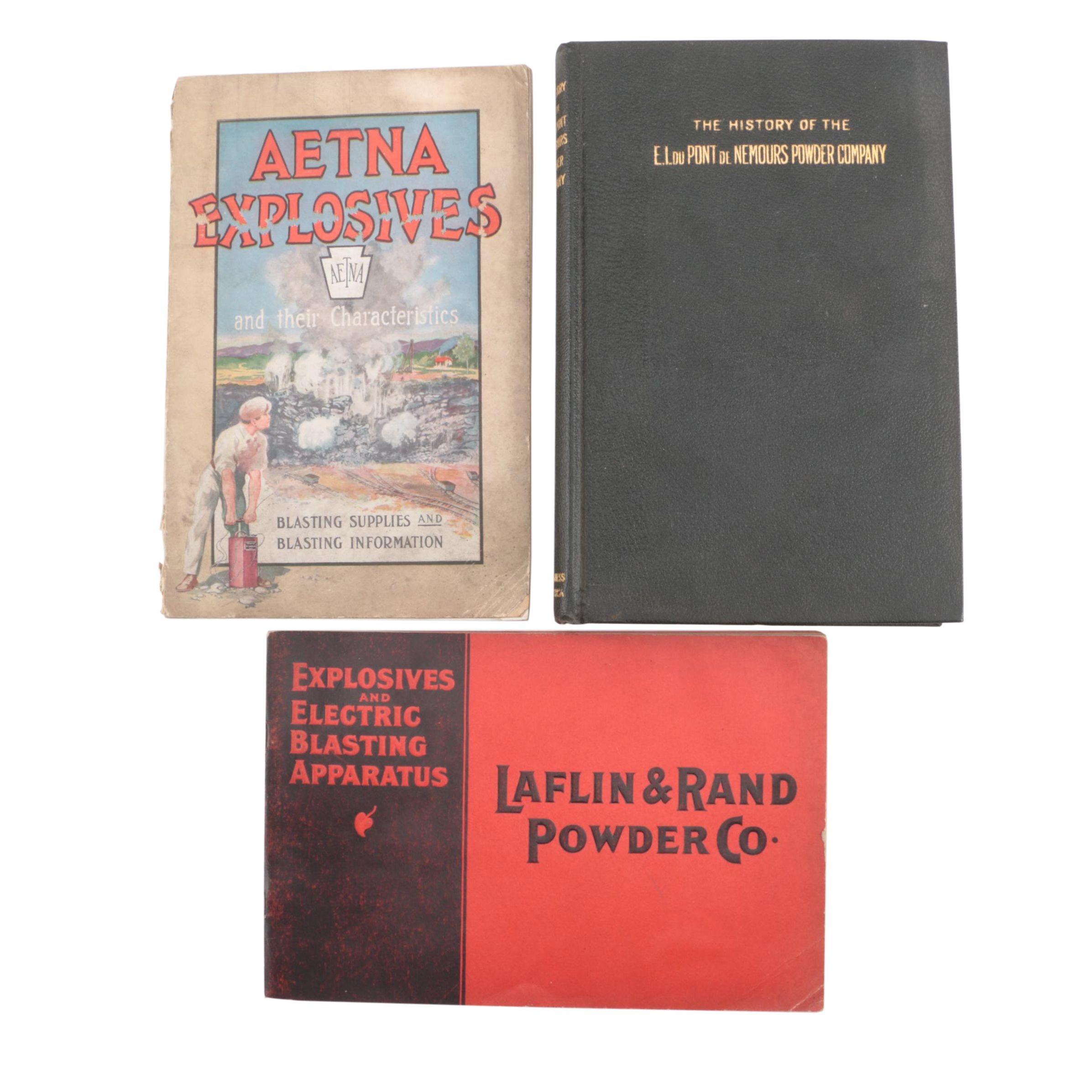 Vintage Books on Explosives