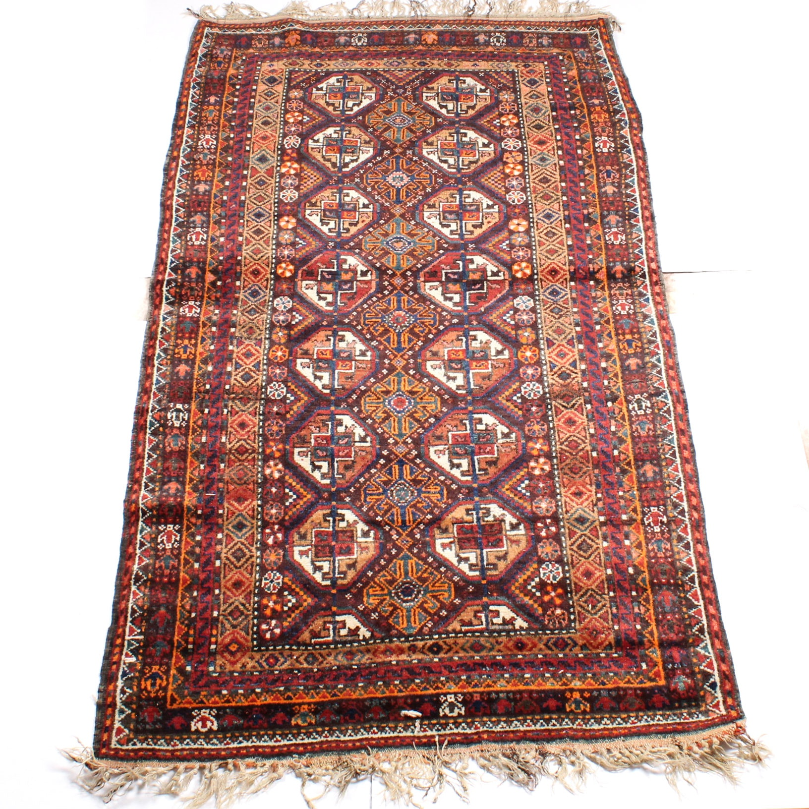 Hand-Knotted Persian Baluch Long Rug, circa 1910