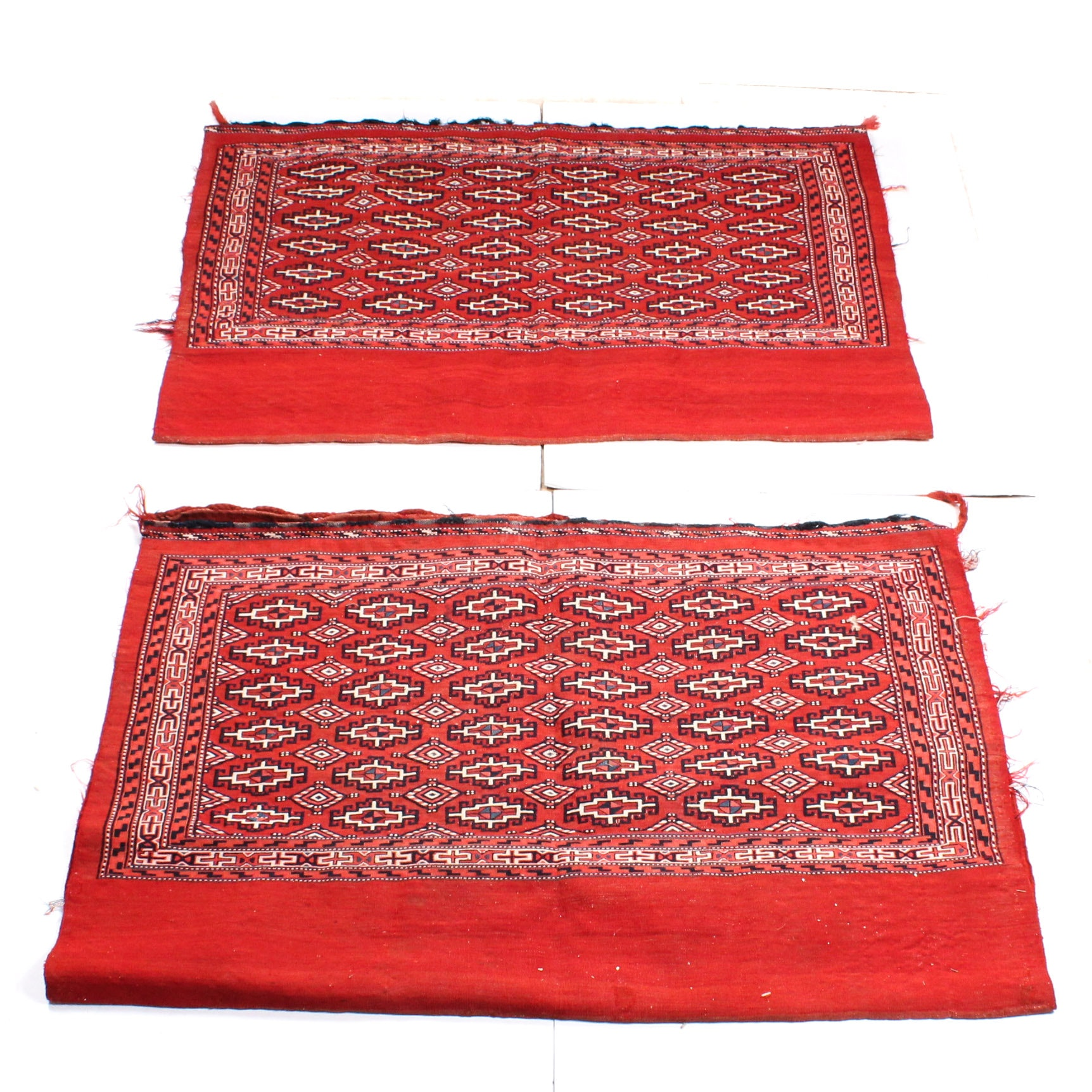 Handwoven Turkmen Tekke Chuval Storage Bags, circa 1920
