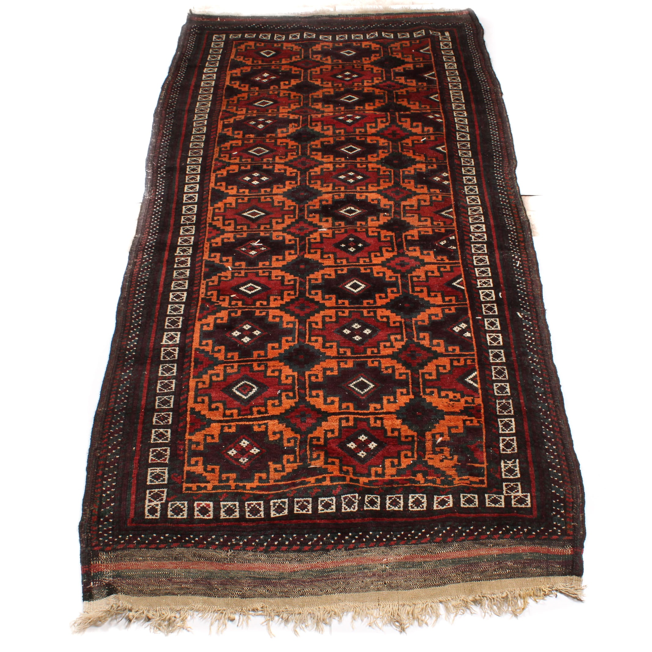 Hand-Knotted Persian Baluch Long Rug