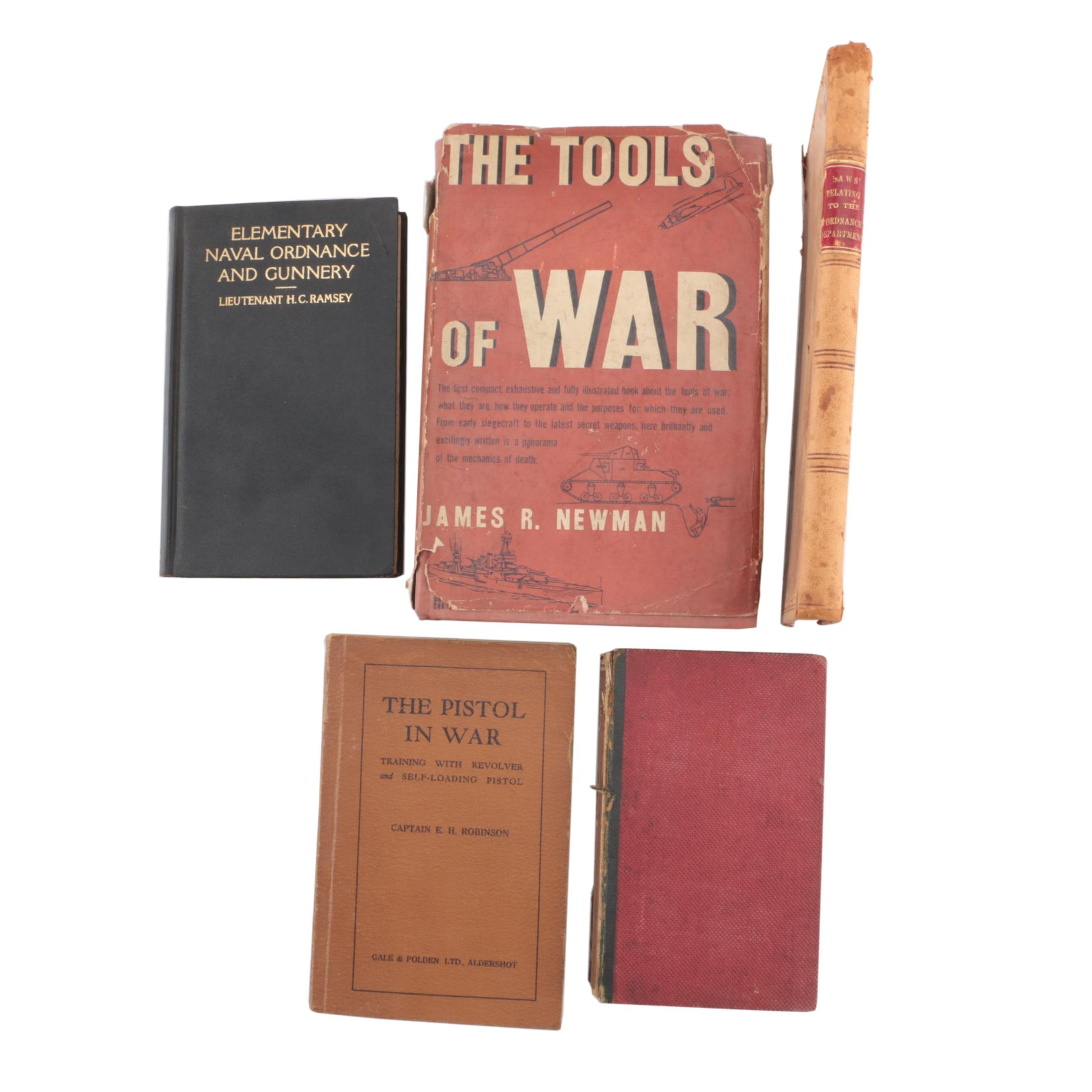 Vintage Military History and Weaponry Books