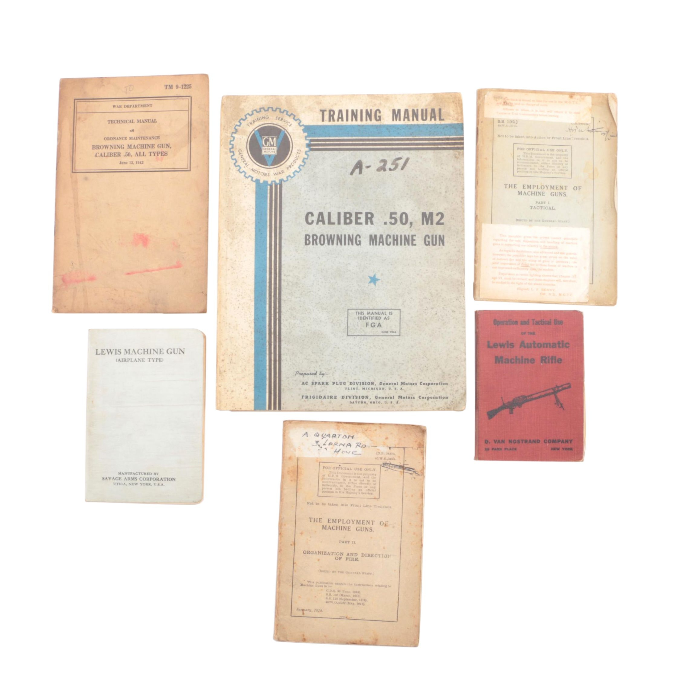 Vintage to Antique Firearm Training Manuals including War Department Issues