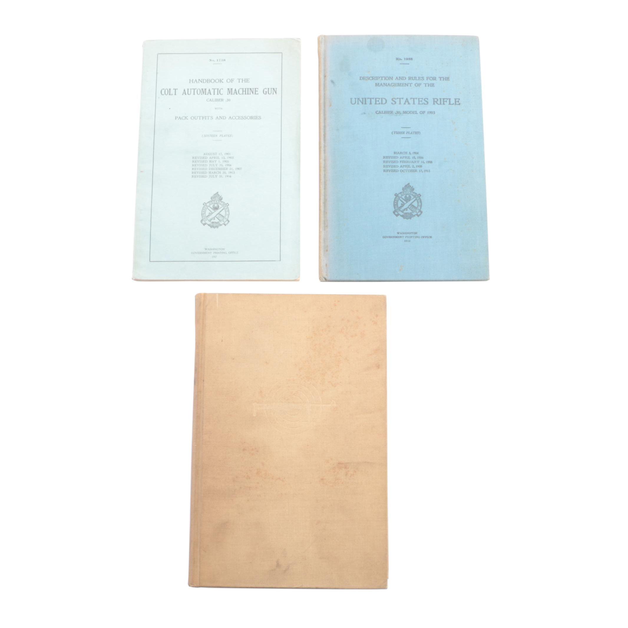 Vintage Military Handbooks and Hardcover