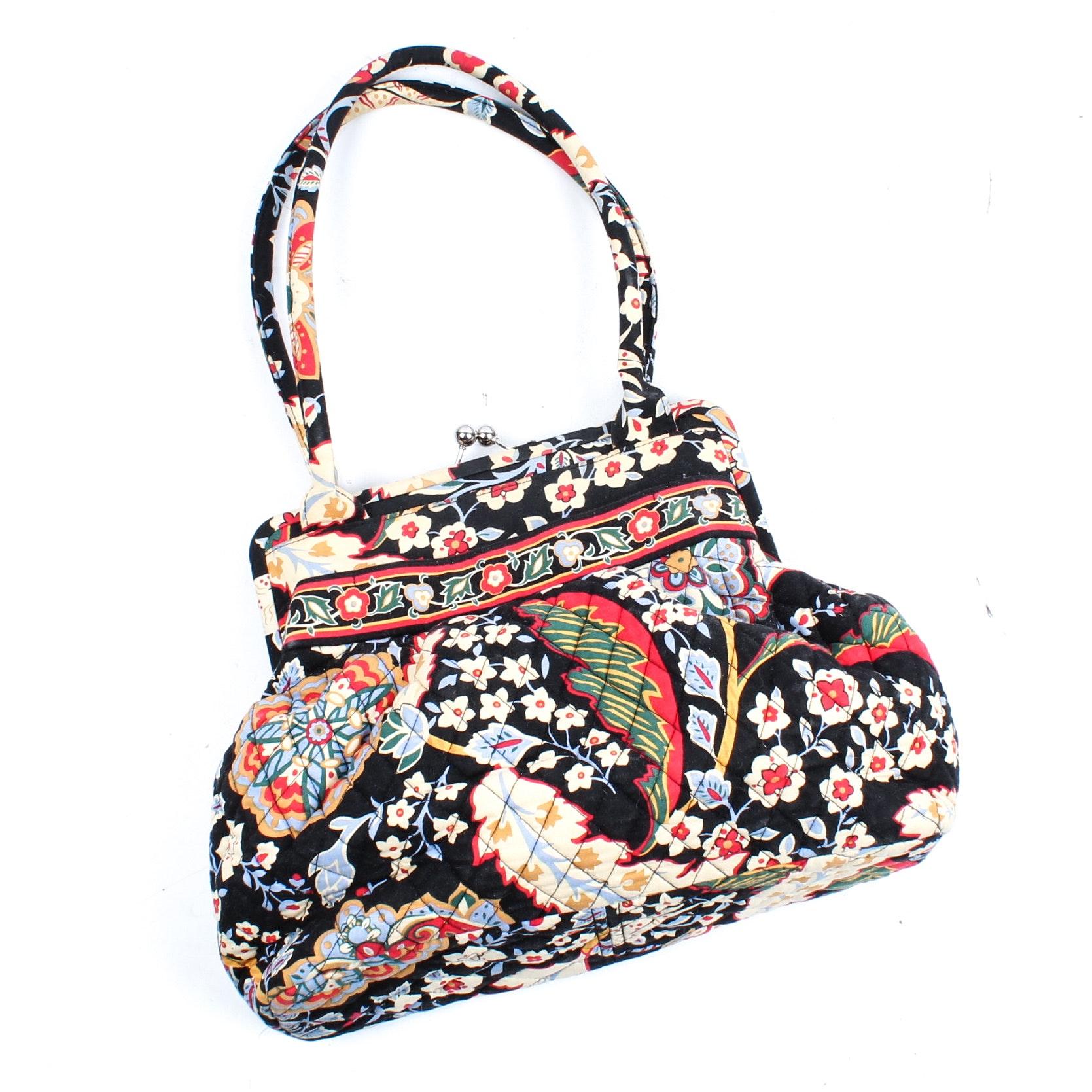 "Vera Bradley ""Versailles"" Quilted Cotton Shoulder Bag, 2010 Retired Pattern"
