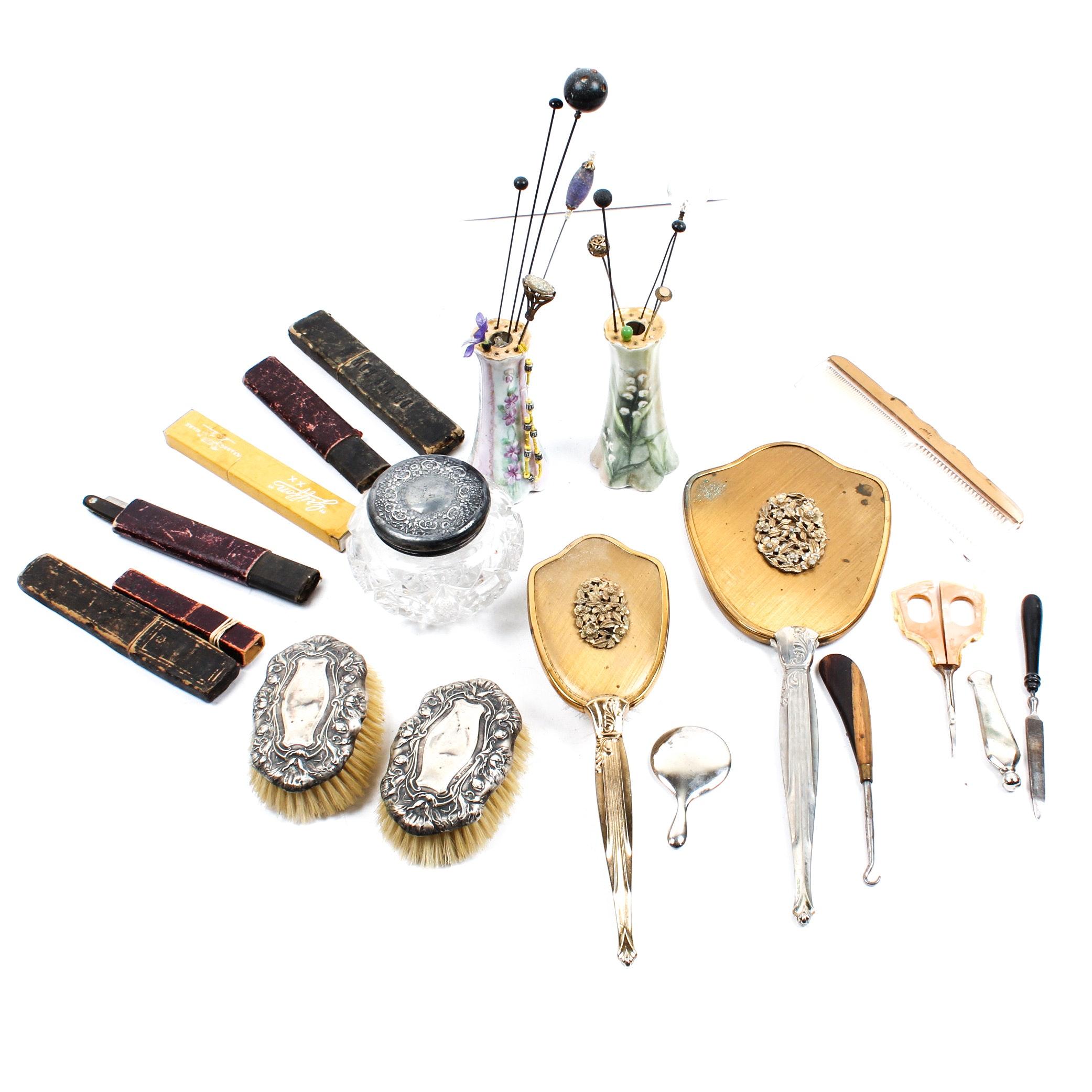 Vintage Vanity Set and Accessories
