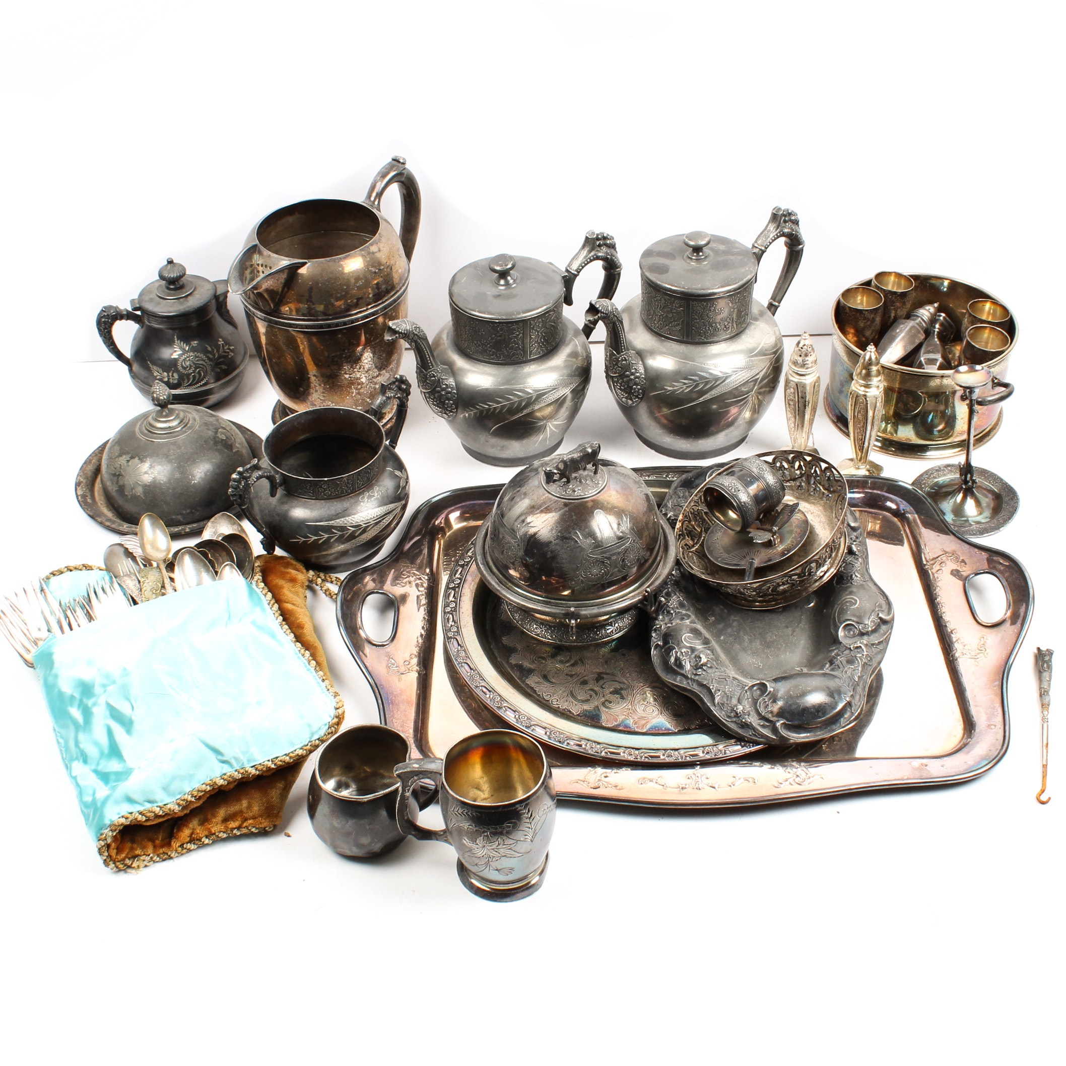 Silver Plate Tableware, Flatware, and Serveware
