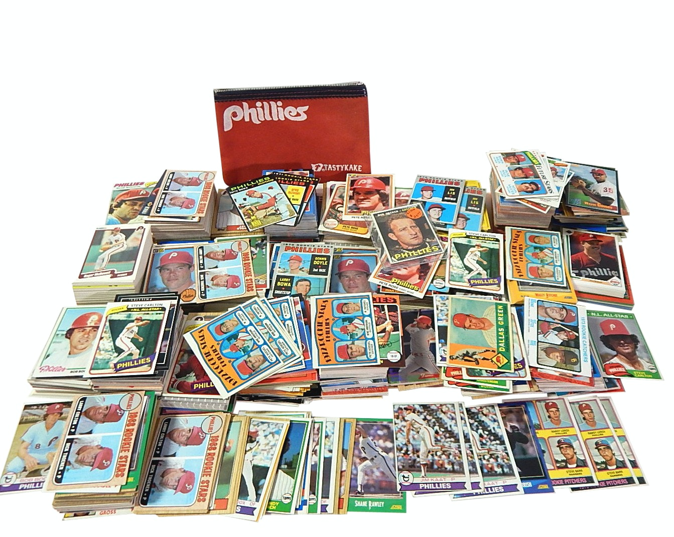 Collection of Philadelphia Phillies Baseball Cards from 1960s to Early 1990s