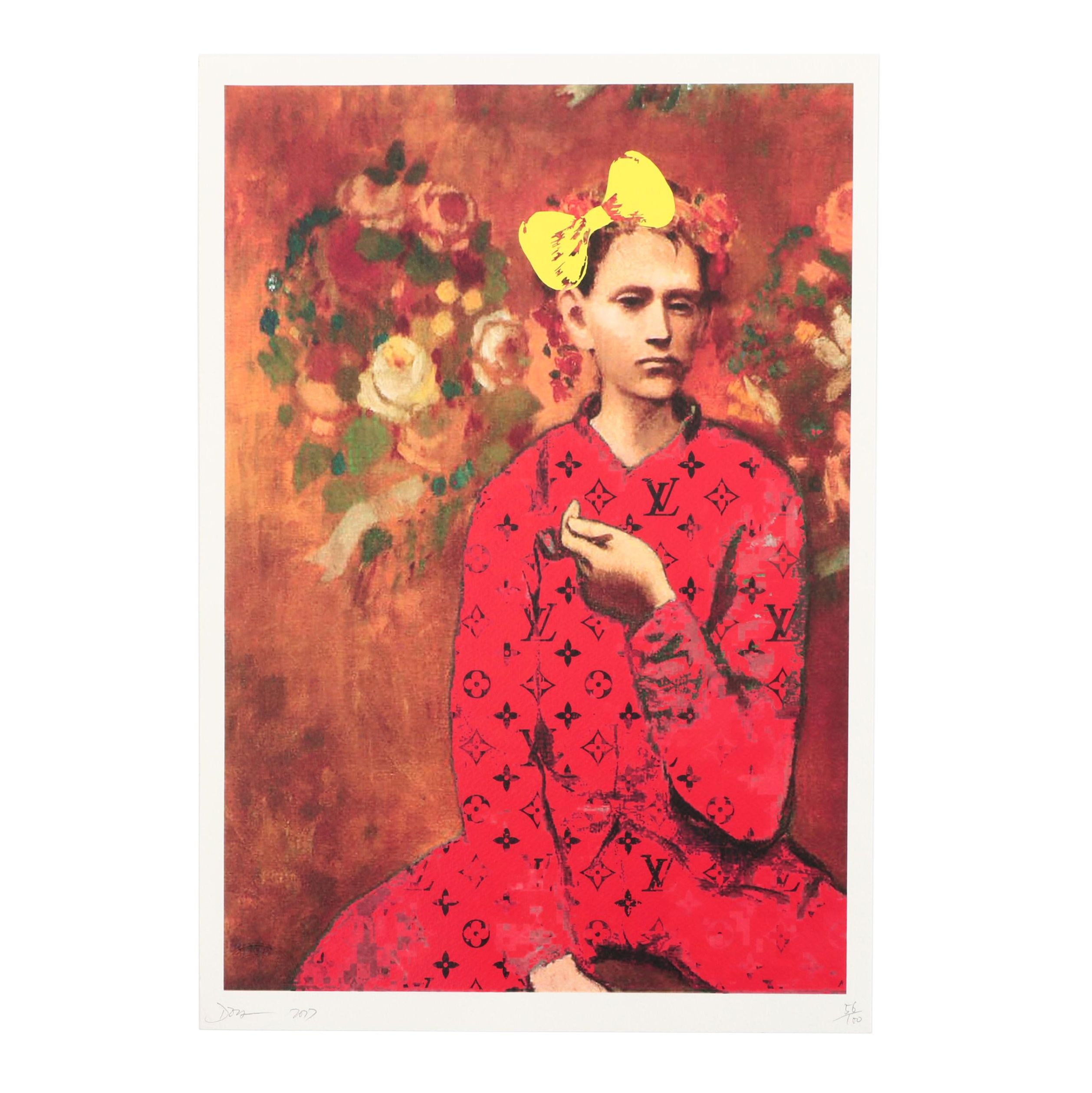 """Death NYC Limited Edition Offset Print """"Picasso Pipe Red"""""""