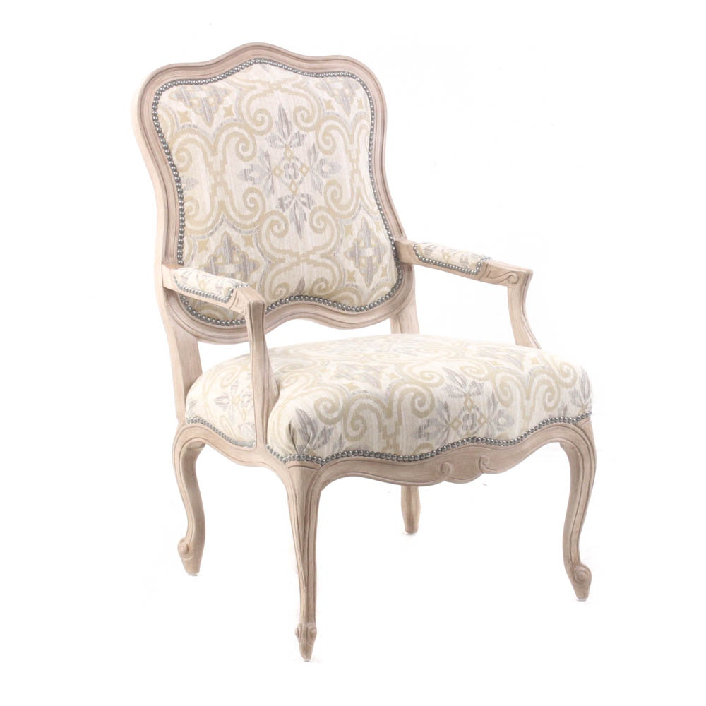 Camden Collection Studded Upholstered Armchair