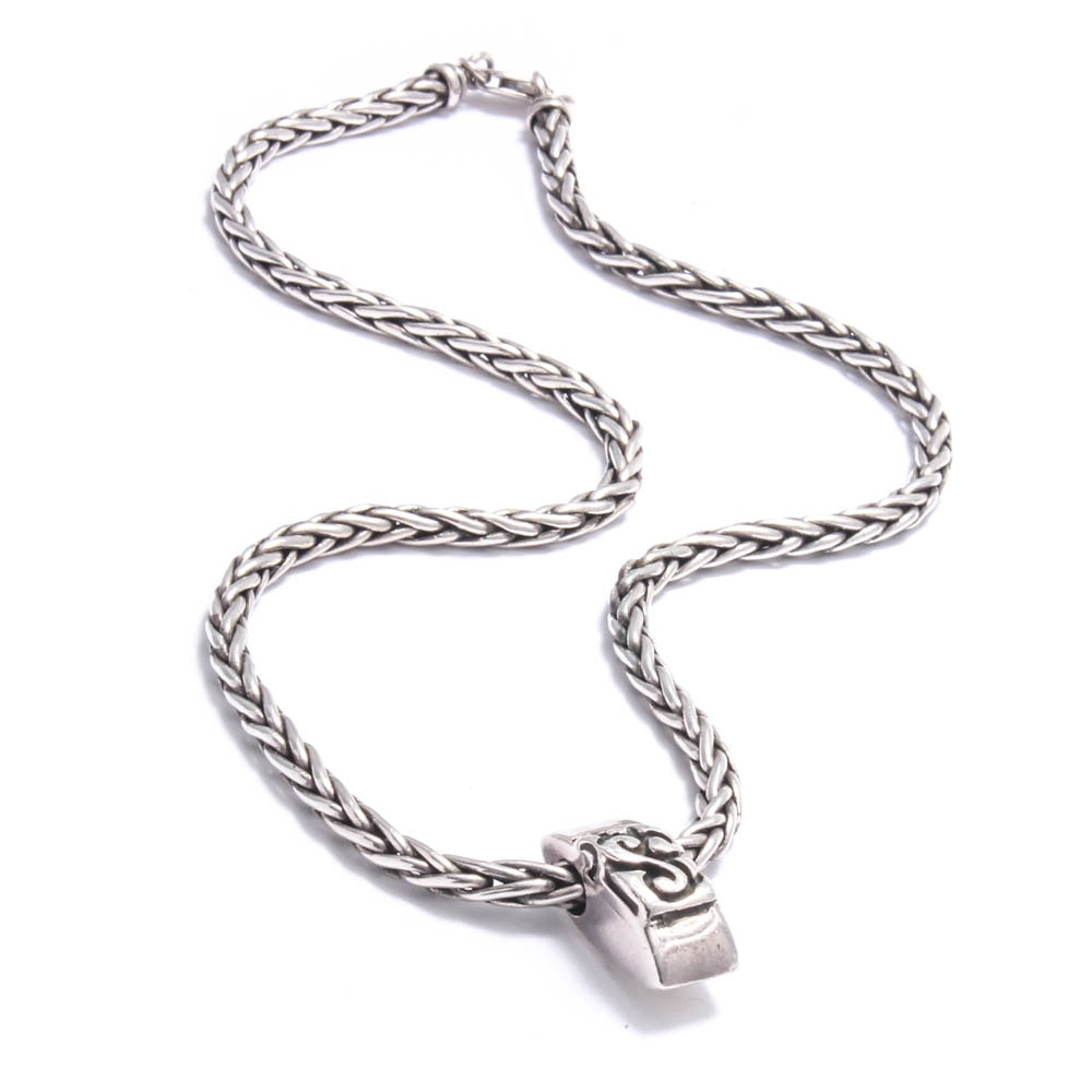 Sterling Silver Wheat Chain Necklace by ZINA Jewelry