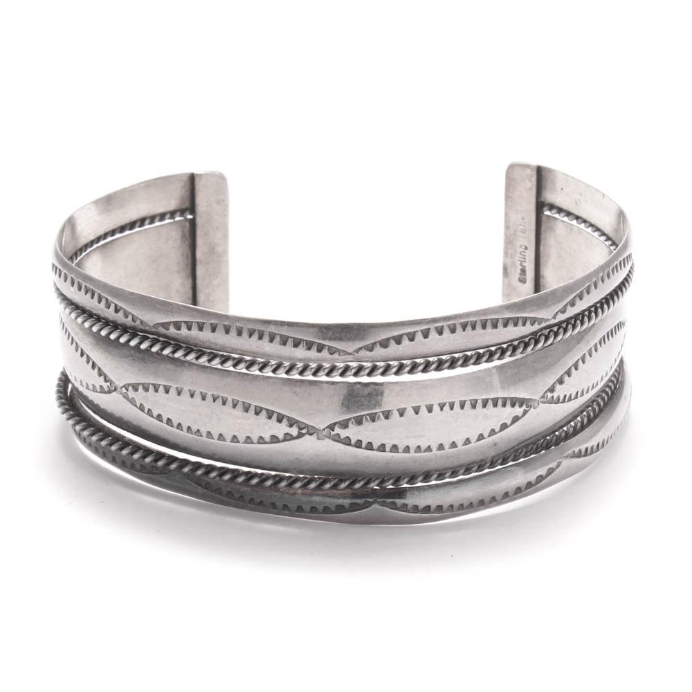 Sterling Silver Open Bracelet