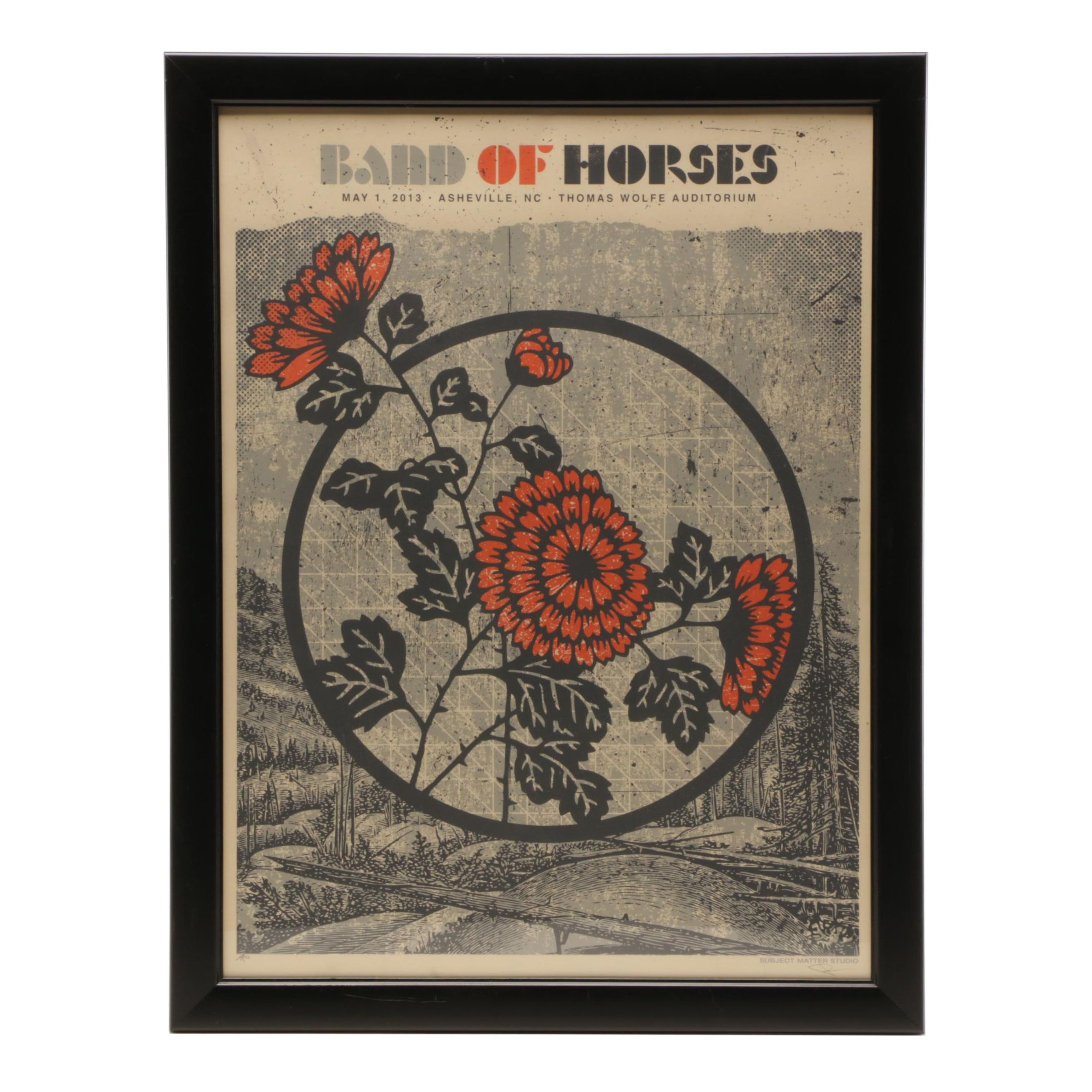 Band of Horses Artist Proof Serigraph Poster by Subject Matter Studio