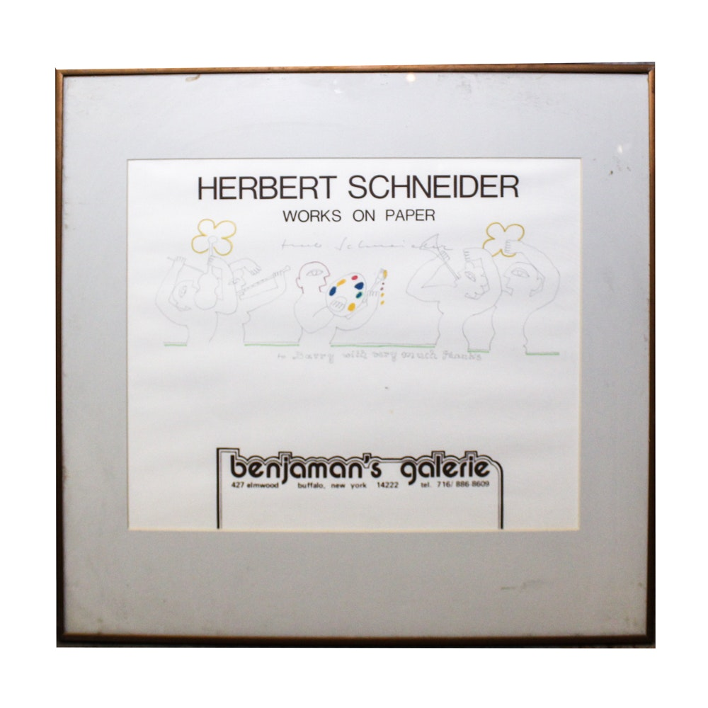 "Herbert Schneider Drawing ""Works on Paper"""