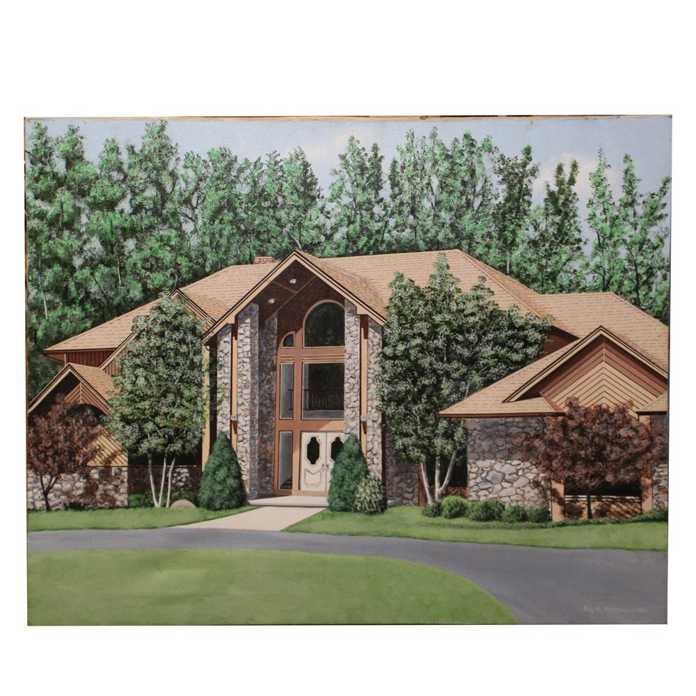 "Roy B. Ahlgren Acrylic ""Jim Kelly's House"""
