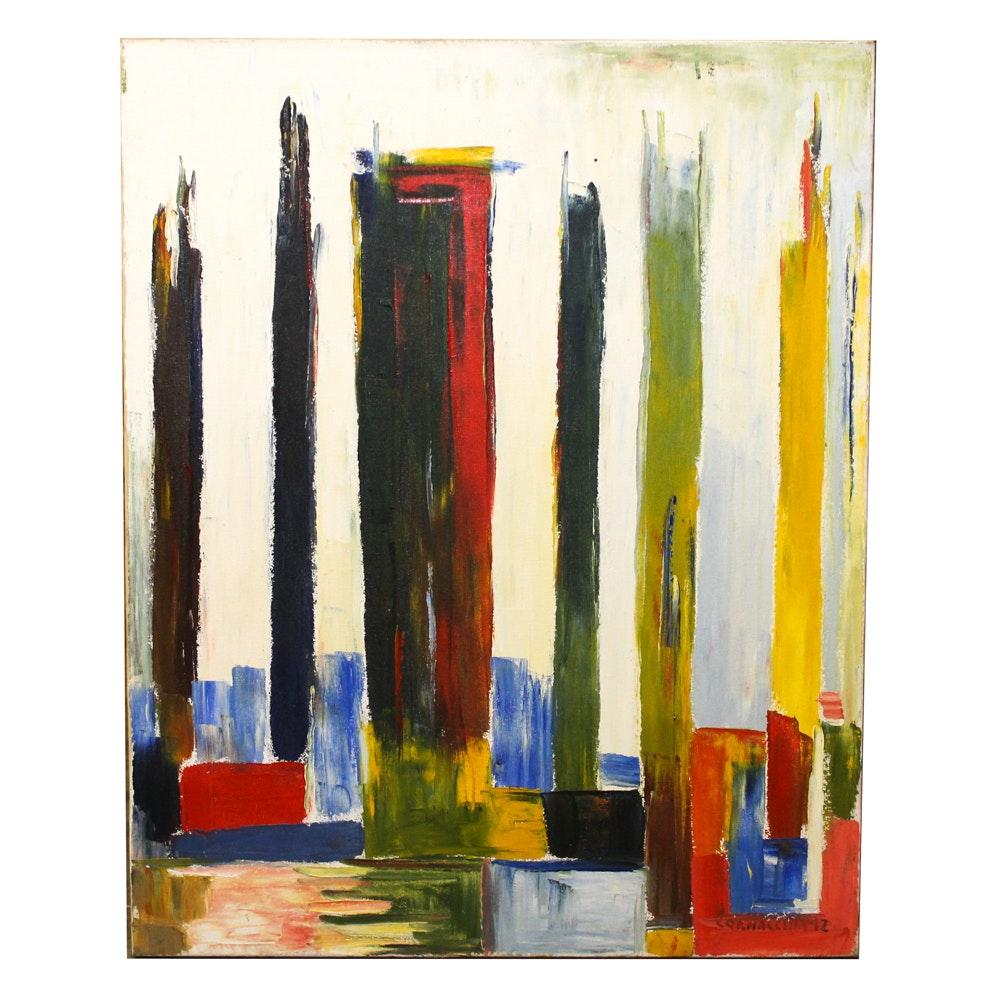 "Cornacchia Oil Painting ""Mysterious"""