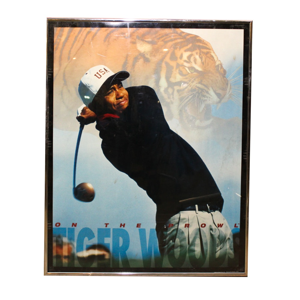 "Tiger Woods ""On the Prowl"" Poster"