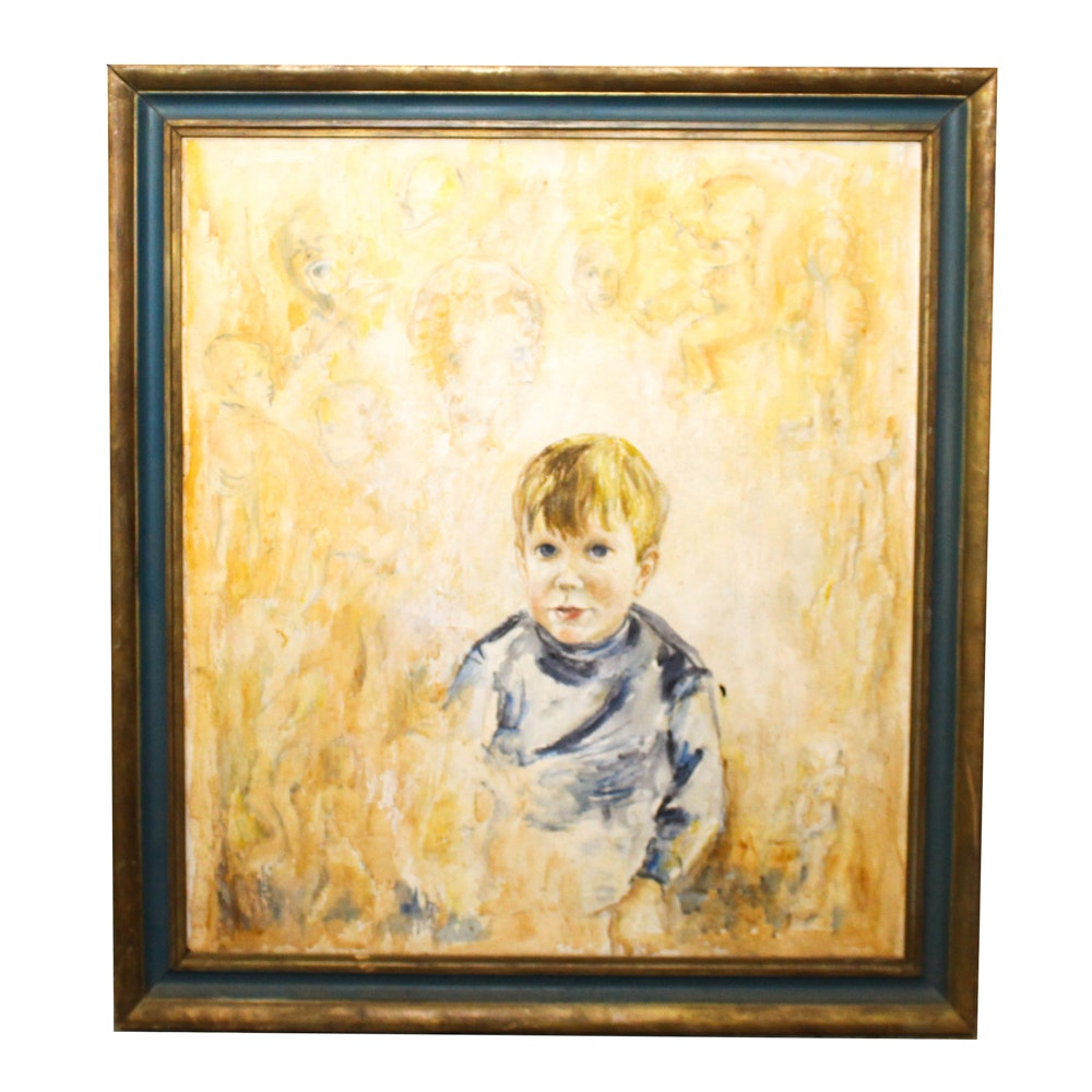 Oil Painting of Boy