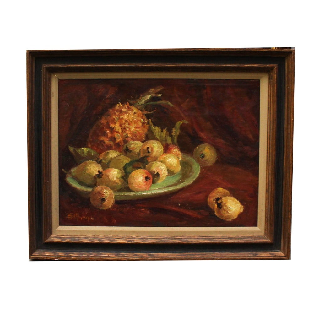 Chuck Wong Oil Painting of Still Life