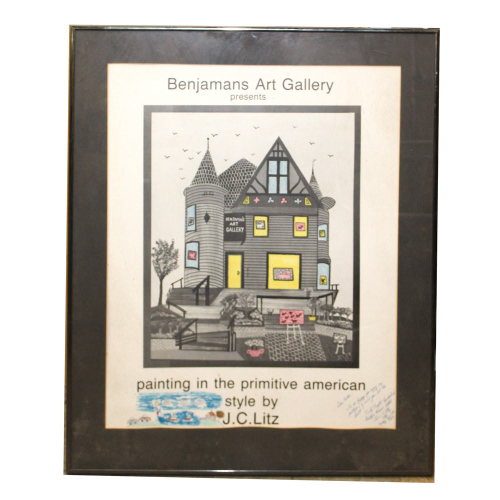 Benjamin's Art Gallery Poster Featuring Art by J.C. Litz