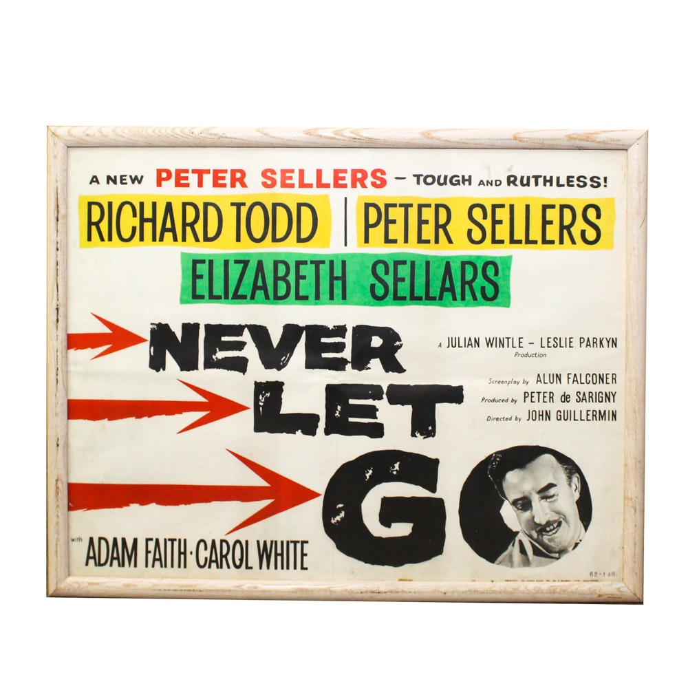 """Never Let Go"" 1960 Film Poster"