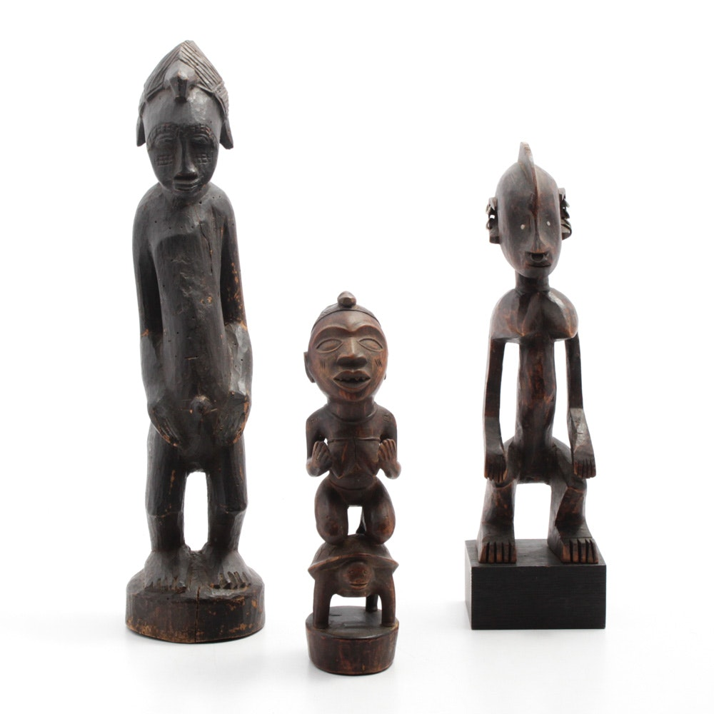 Hand Carved West African Wooden Sculptures