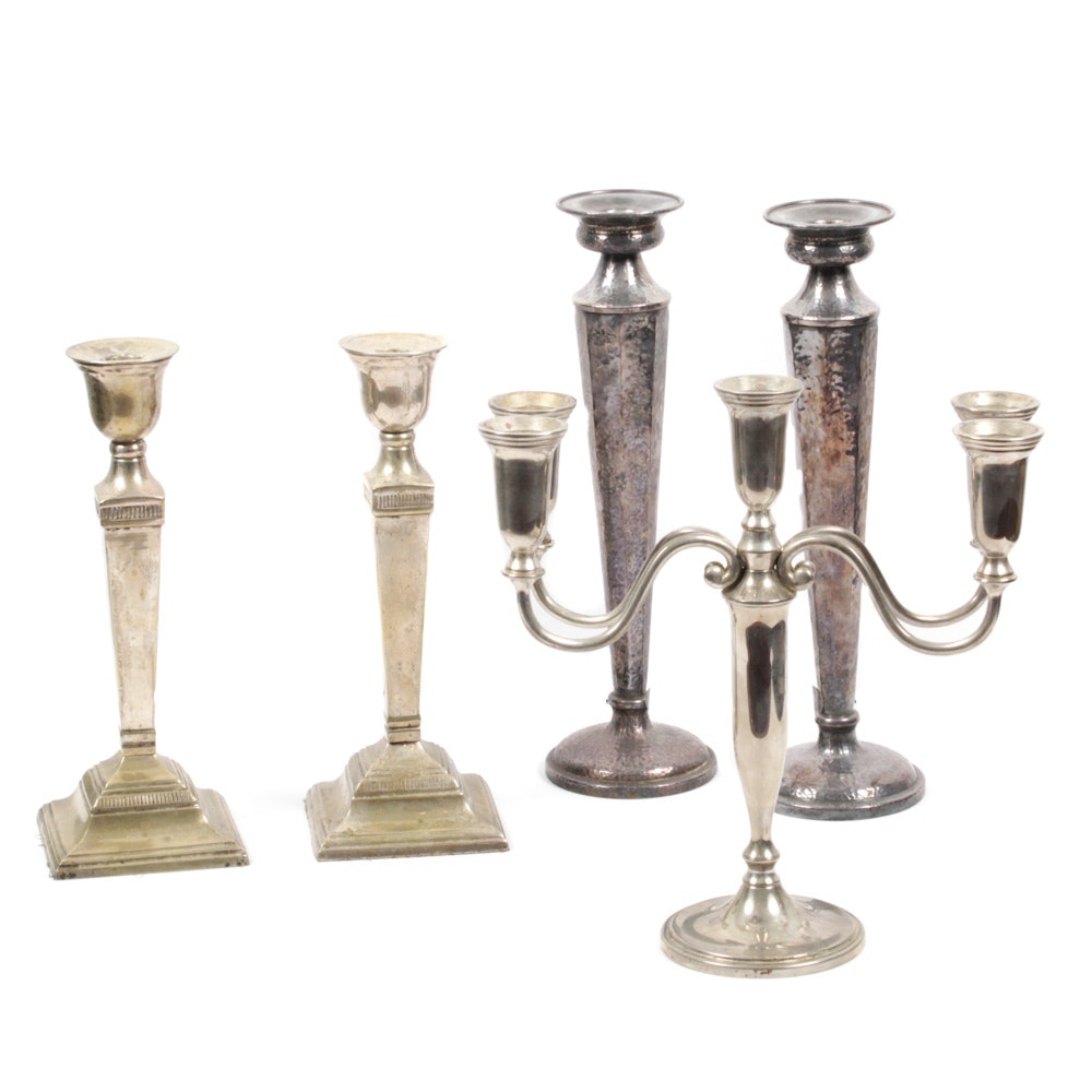 Contemporary Candlesticks and Candelabra Including Jos. Heinriches, Godinger