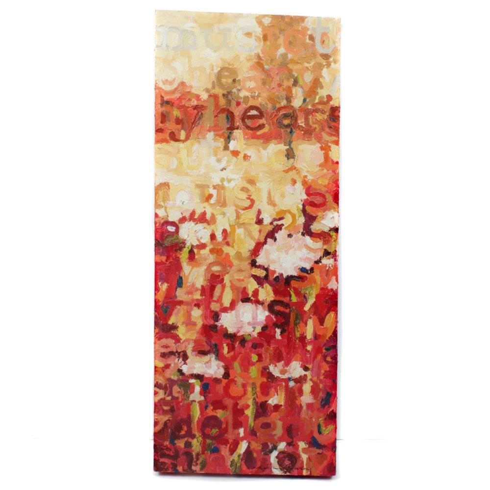 """Kirsten Bowen Acrylic Painting """"Shakespearean Sonnet VIII"""""""