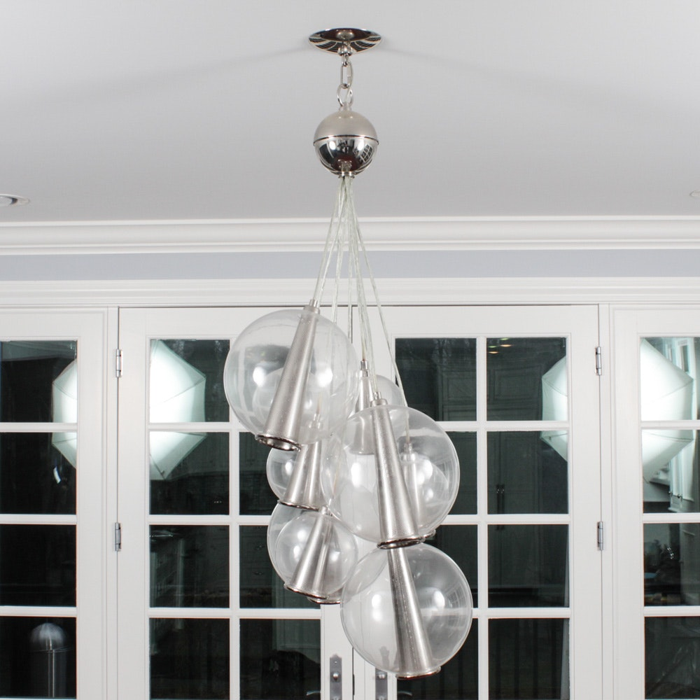 Contemporary Globe Chandelier Attributed to Raak