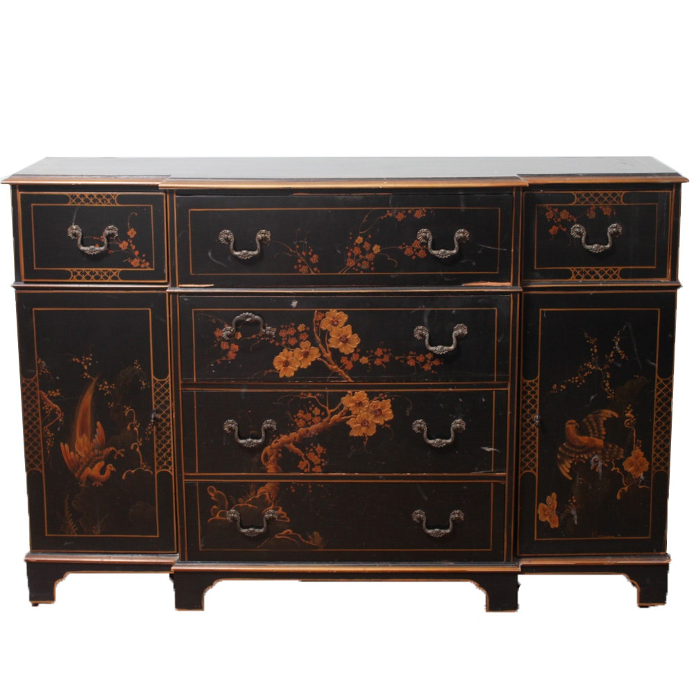 Union National Chinoiserie Breakfront Butlers Desk
