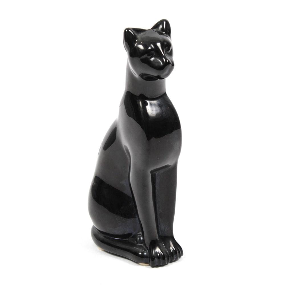 Baccarat Black Panther Figurine