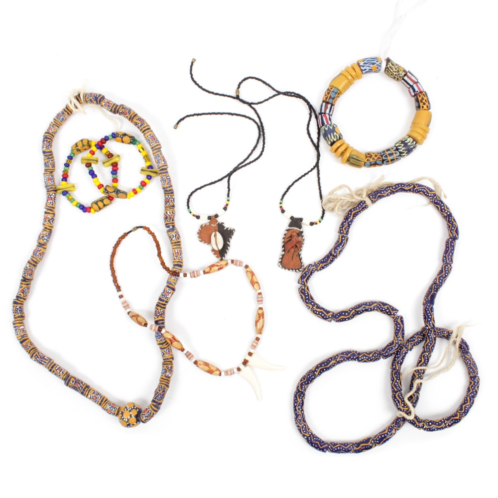 Tribal Jewelry Featuring African Trade Beads