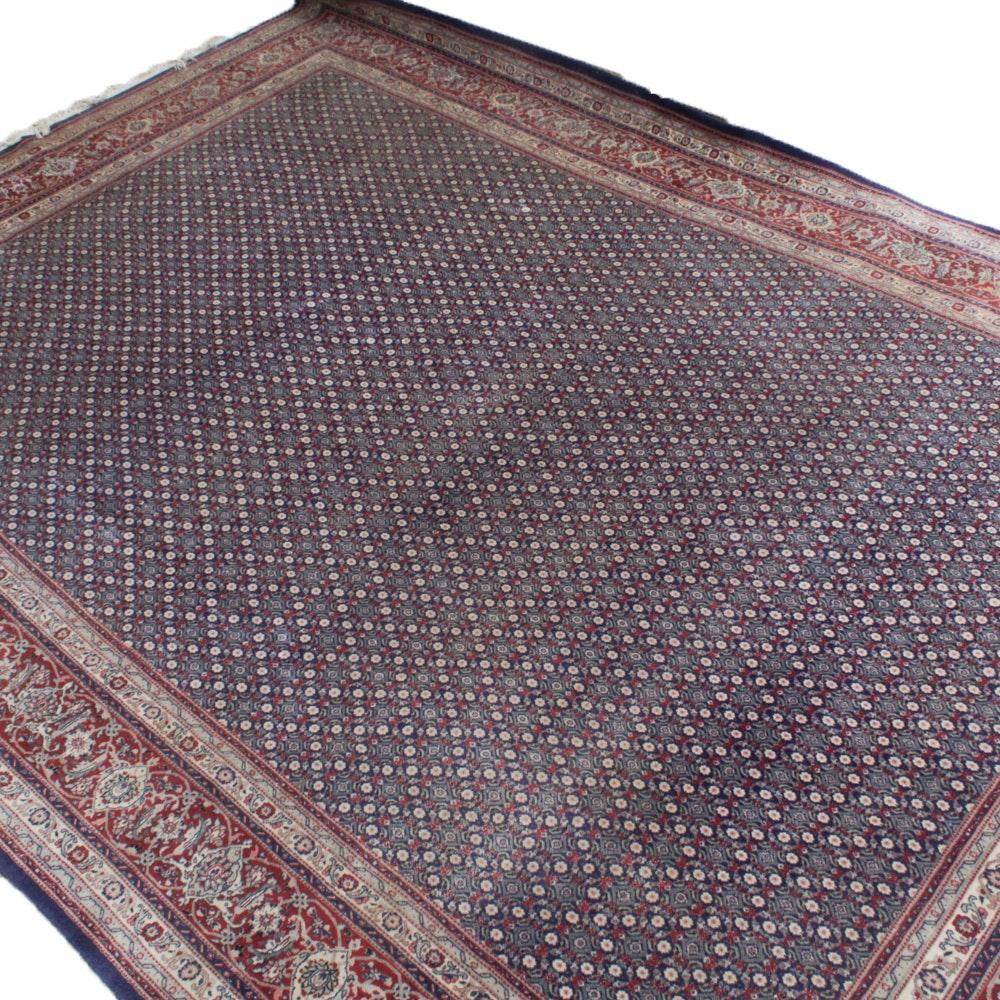 Hand-Knotted Indo-Persian Bijar Rug