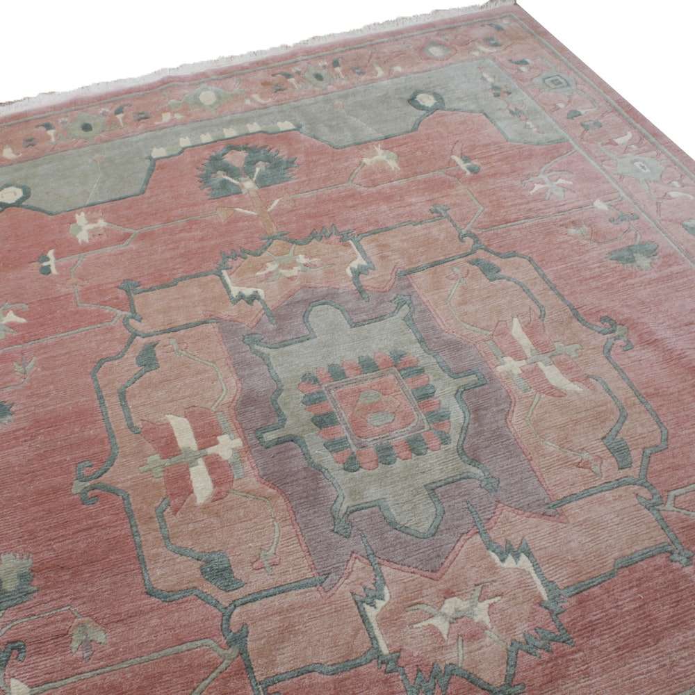 Hand-Knotted Indian Turkish Style Room Sized Rug