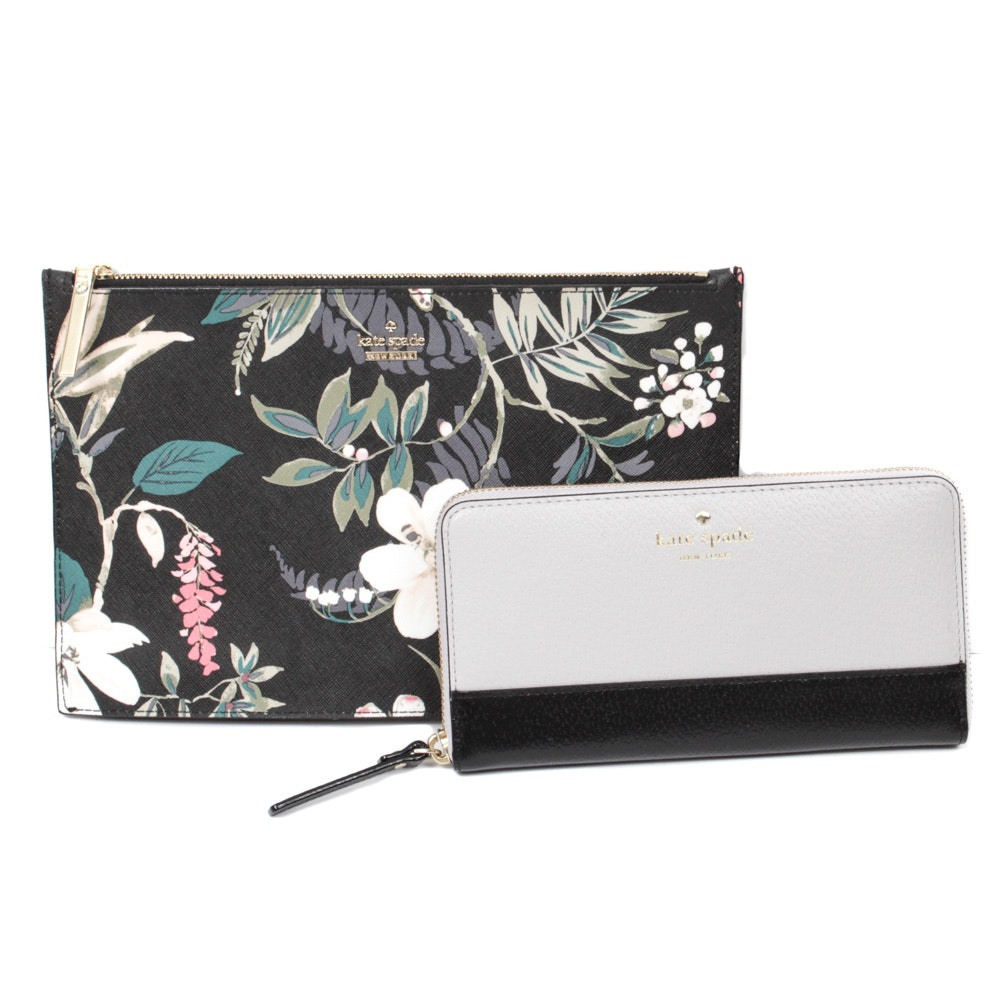 Kate Spade New York Grand Street Lacey Wallet and Cameron Street Clutch