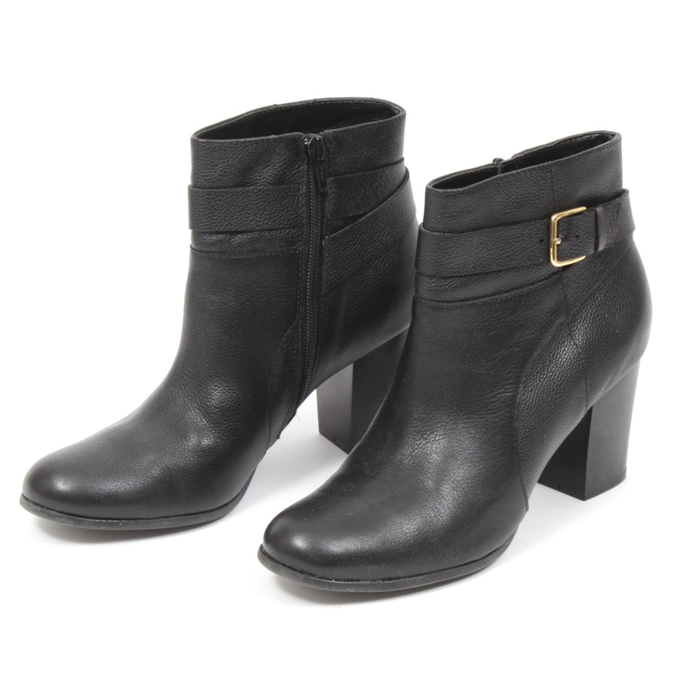 Women's Cole Haan Signature Black Leather Rhinecliff Booties