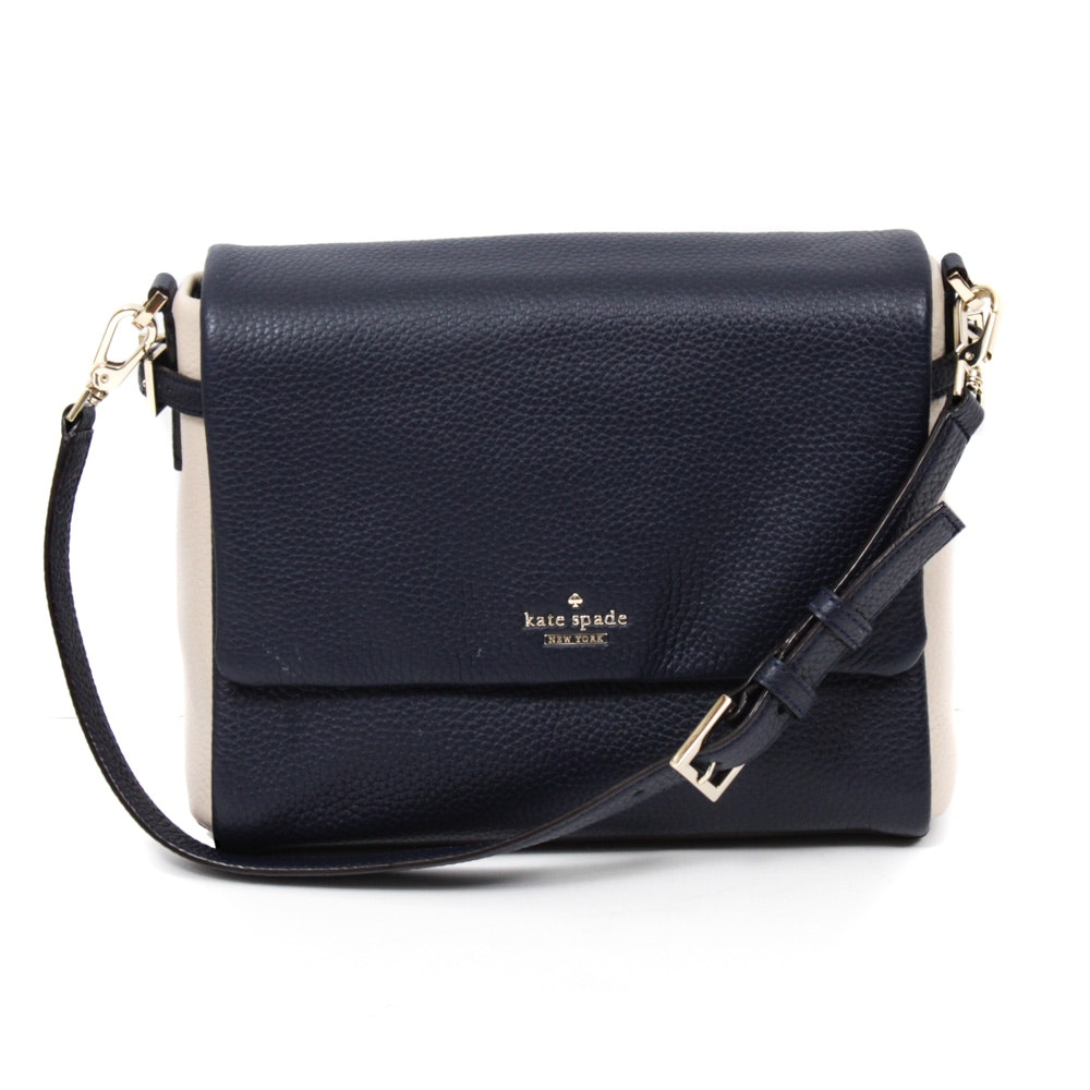 Kate Spade New York Holden Street Allene Two-Tone Pebbled Leather Shoulder Bag