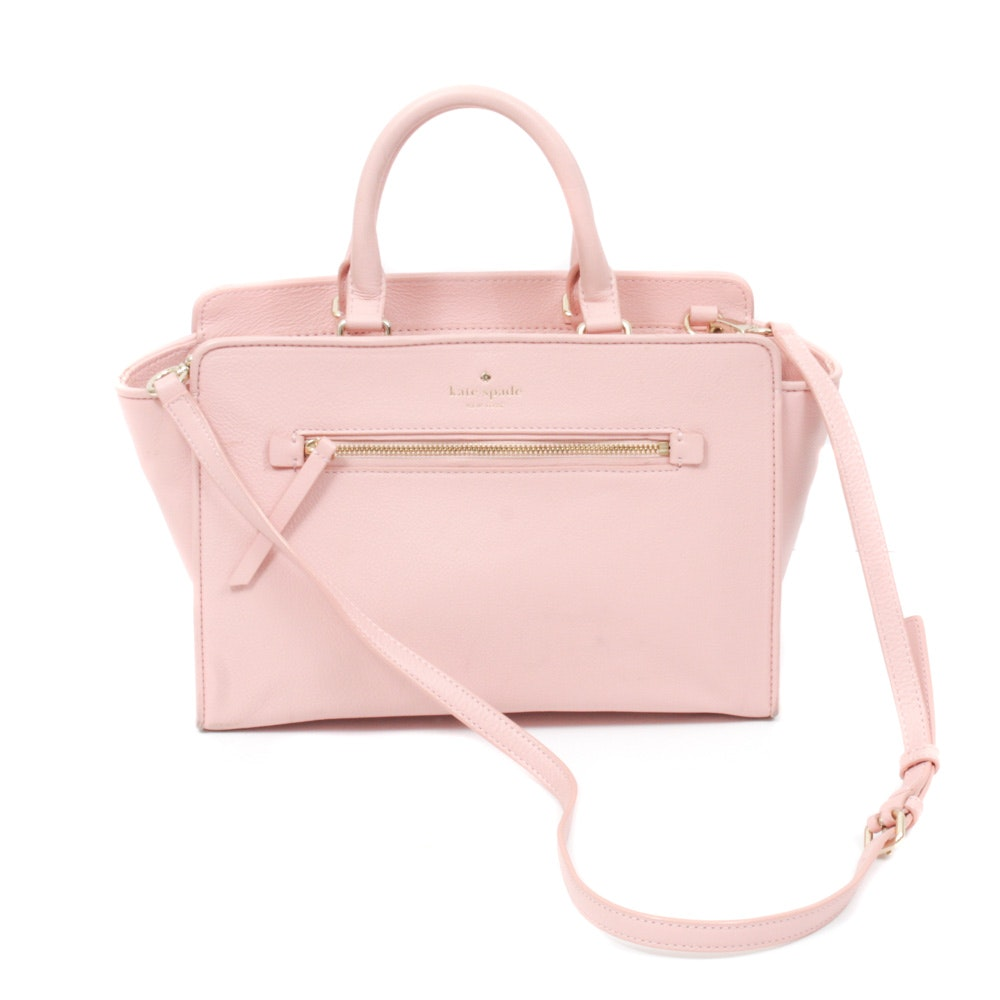 Kate Spade New York North Court Coralline Blush Pink Leather Crossbody Satchel