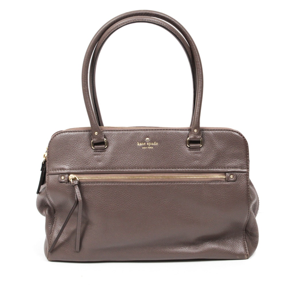 Kate Spade New York Cobble Hill Kiernan Taupe Pebbled Leather Tote