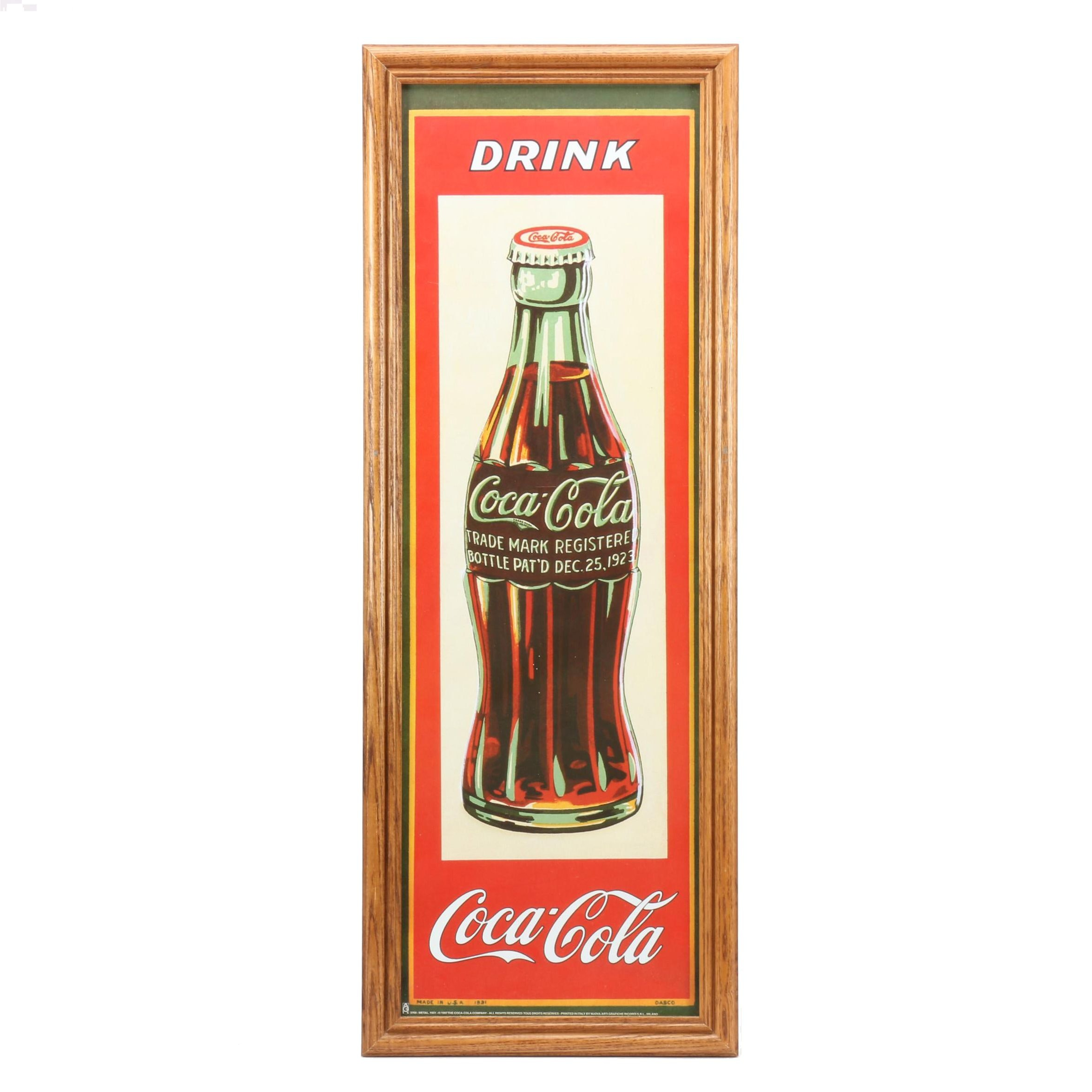 Offset Lithograph After Vintage Poster for Coca-Cola