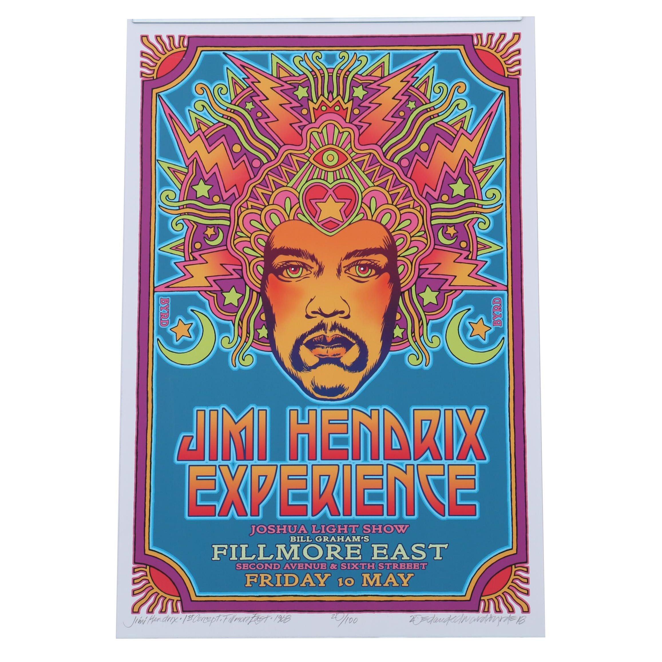 "David Edward Byrd Giclée ""The Jimi Hendrix Experience - Fillmore East"""